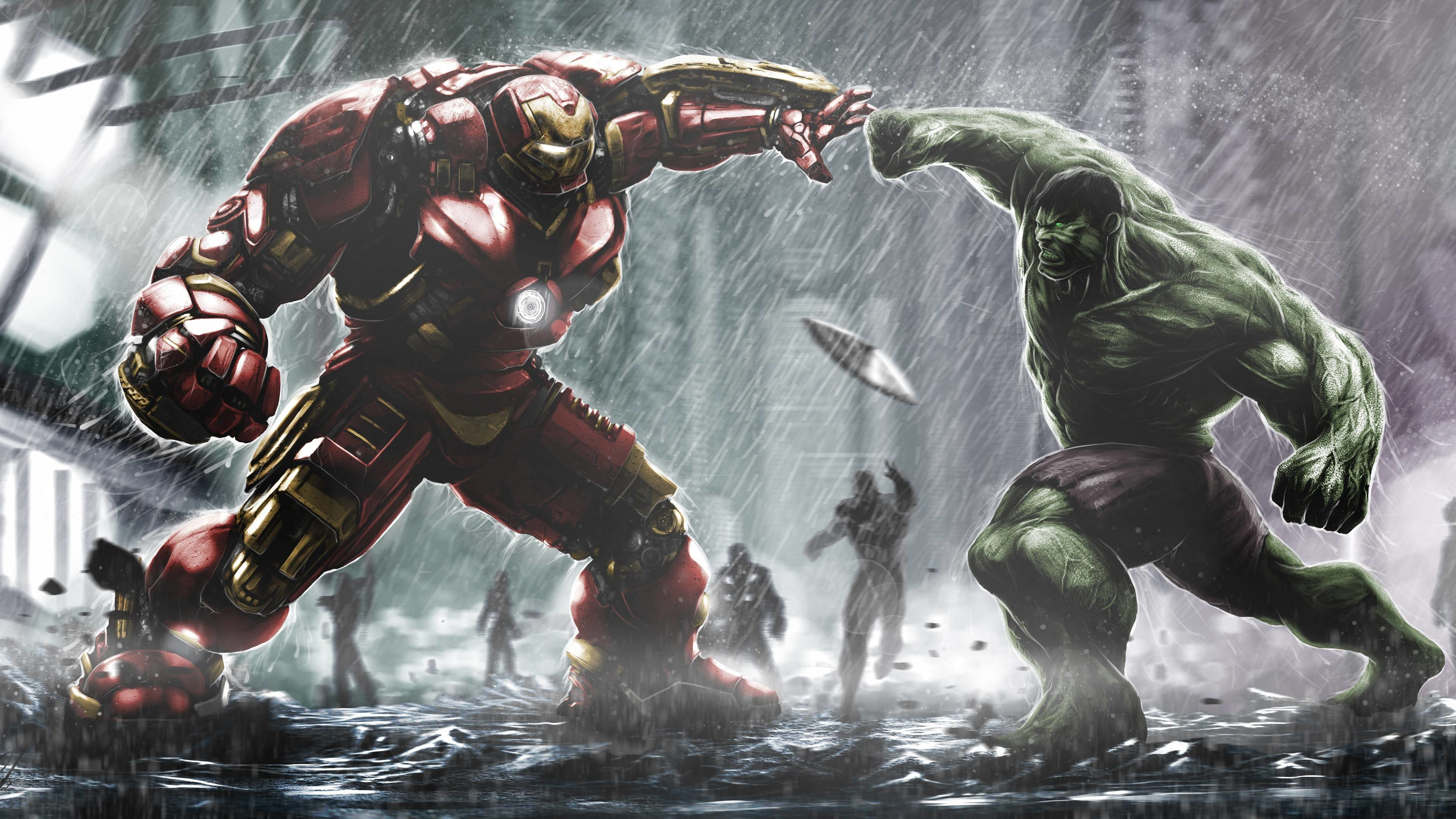 Hulkbuster Ironman Vs Hulk Wallpapers | HD Wallpapers
