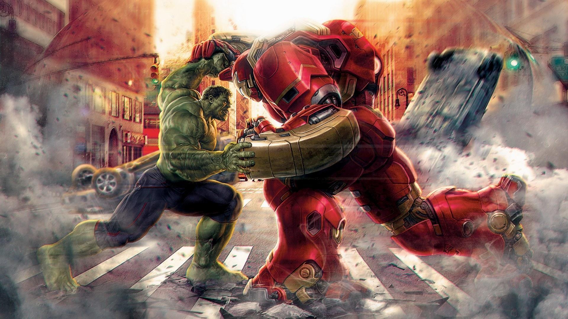 Hulk-vs-Hulkbuster-Avengers-Age-of-Ultron-by-