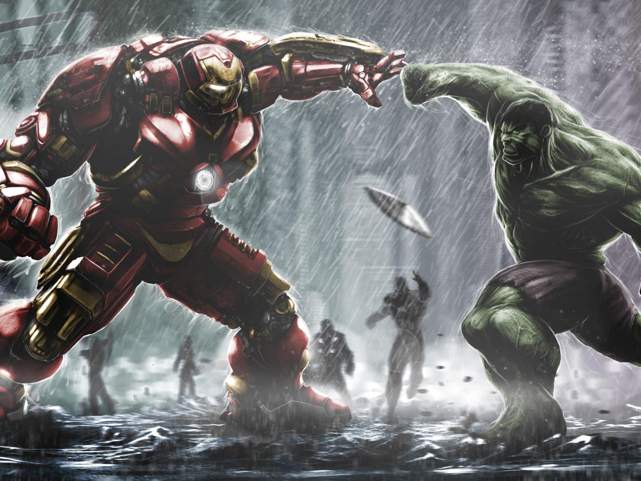 Hulkbuster Ironman Vs Hulk HD Wallpaper