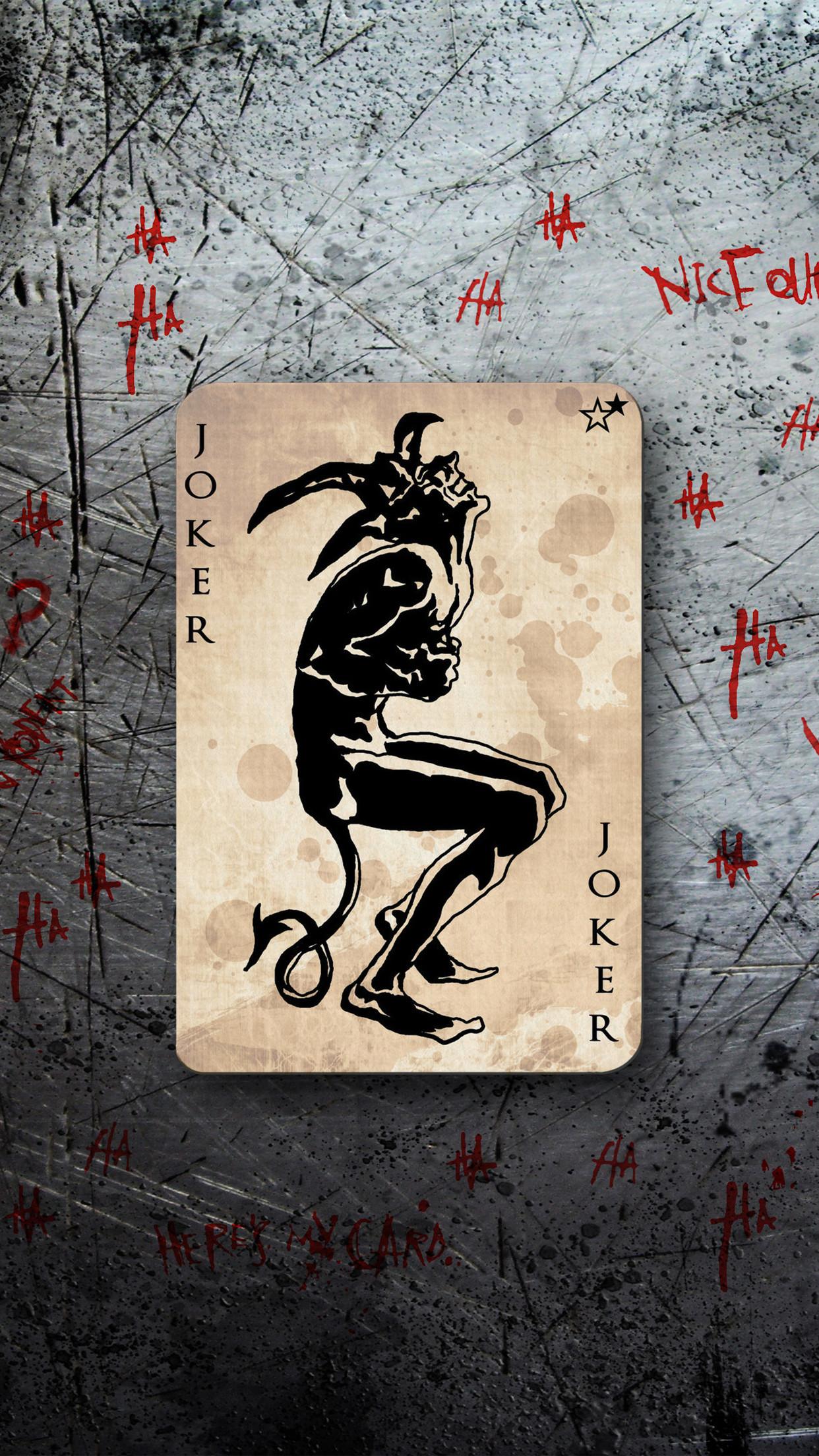 Joker Card iPhone 3Wallpapers Parallax Les 3 Wallpapers iPhone du jour .