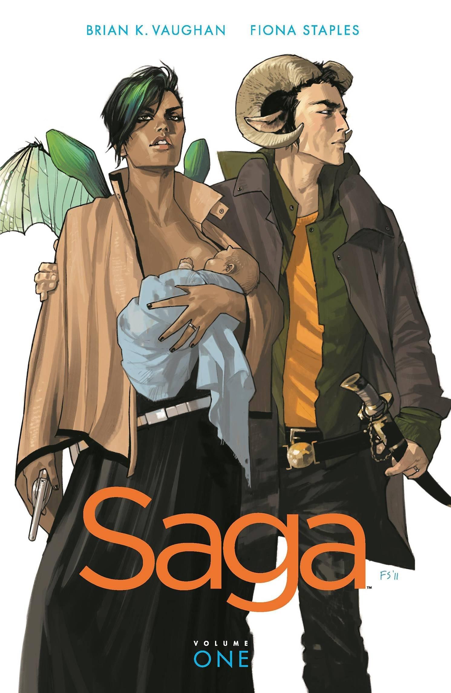 Amazon.com: Saga, Vol. 1 (8601404214264): Brian K Vaughan, Fiona Staples:  Books
