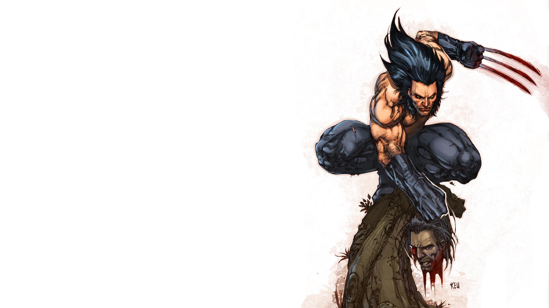 Wolverine Head White Blood Marvel wallpaper | | 71515 .