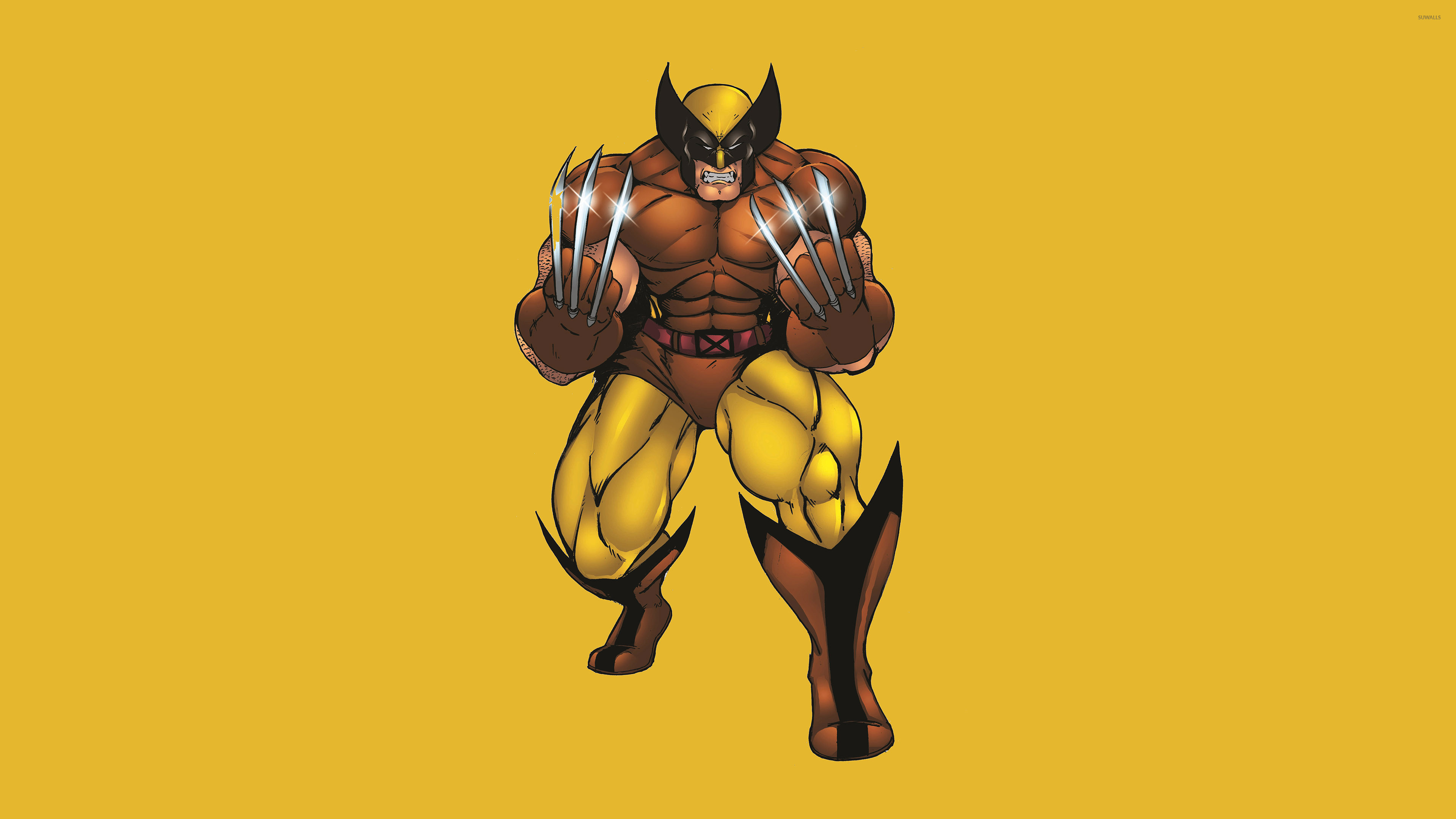 Wolverine with silver claws wallpaper jpg