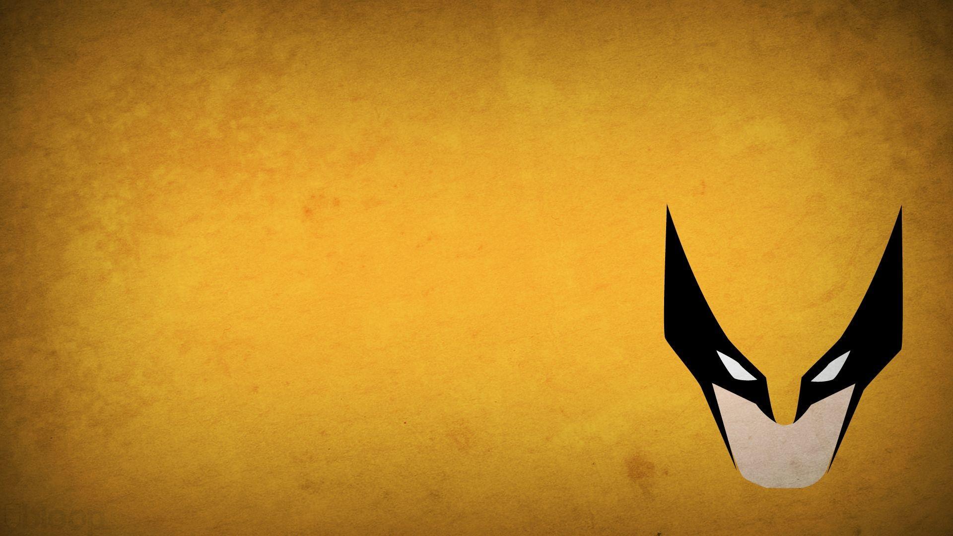 minimalistic X-Men Wolverine superheroes Marvel Comics yellow background –  Wallpaper ( / Wallbase.