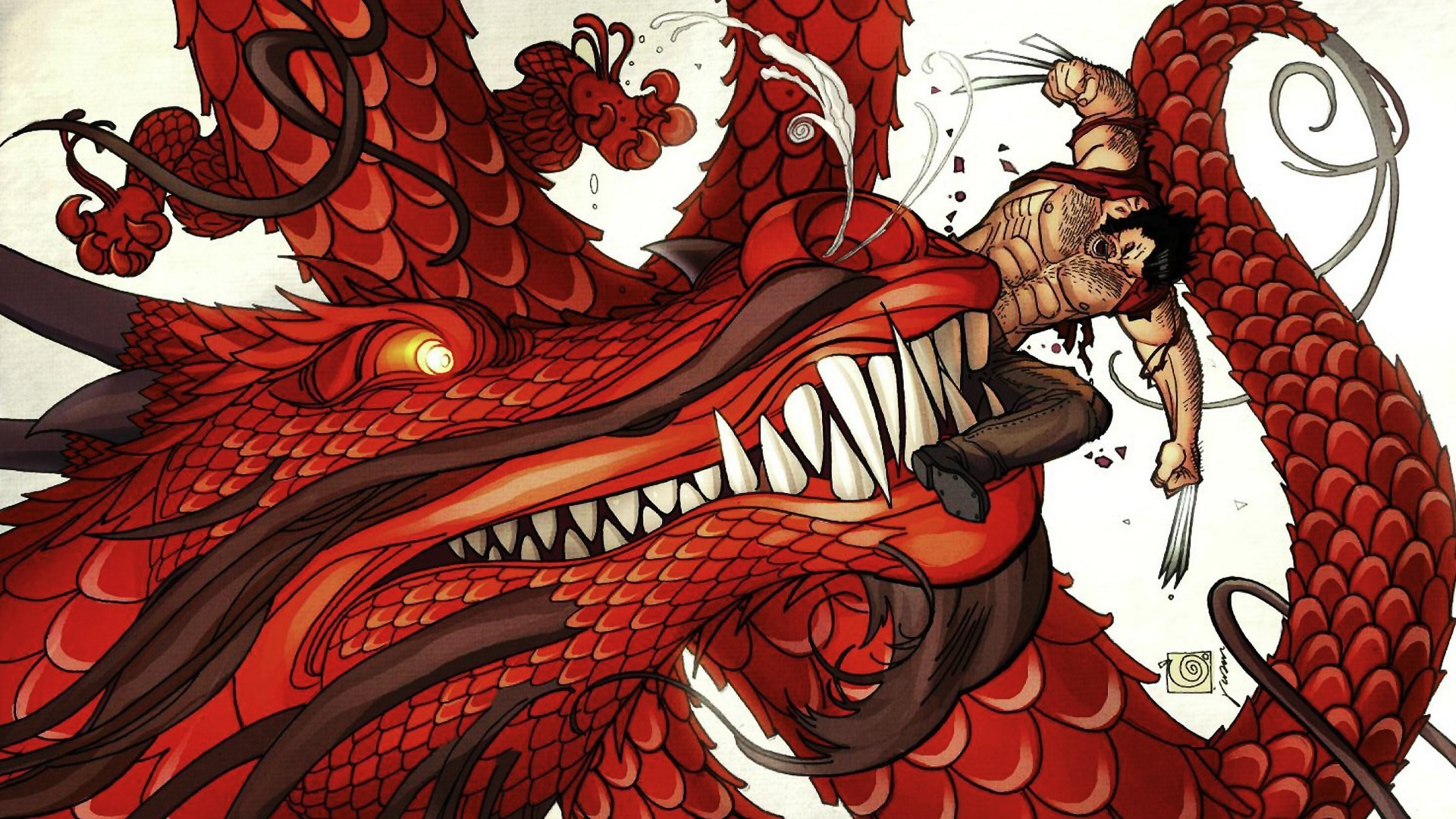 Dragons comics wolverine wallpaper