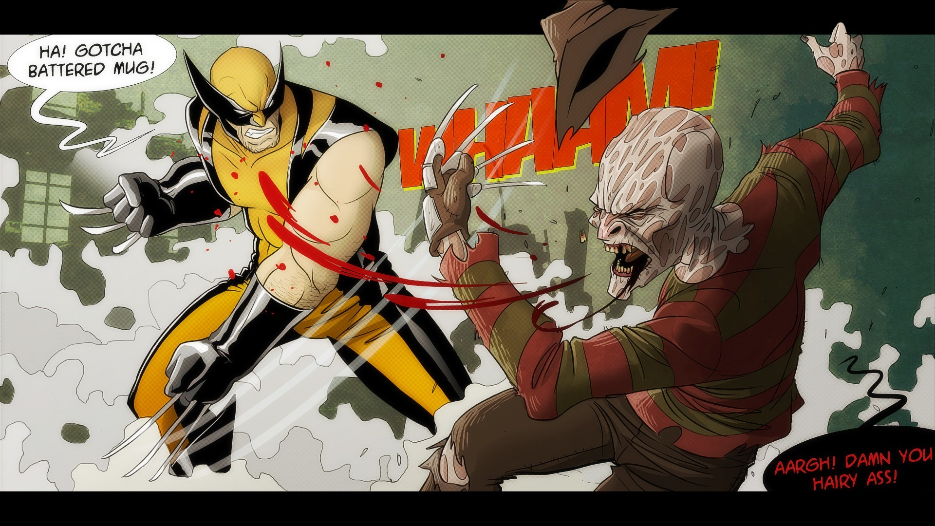 Comics – Wolverine Vs. Freddy Wolverine Freddy Freddy Kruger Wallpaper