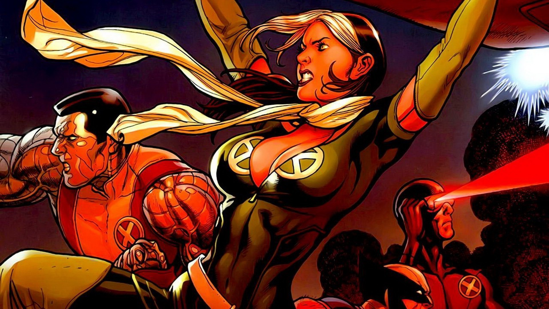 comics, Wolverine, X Men, Cyclops, Marvel Comics, Rogue (character)  Wallpapers HD / Desktop and Mobile Backgrounds