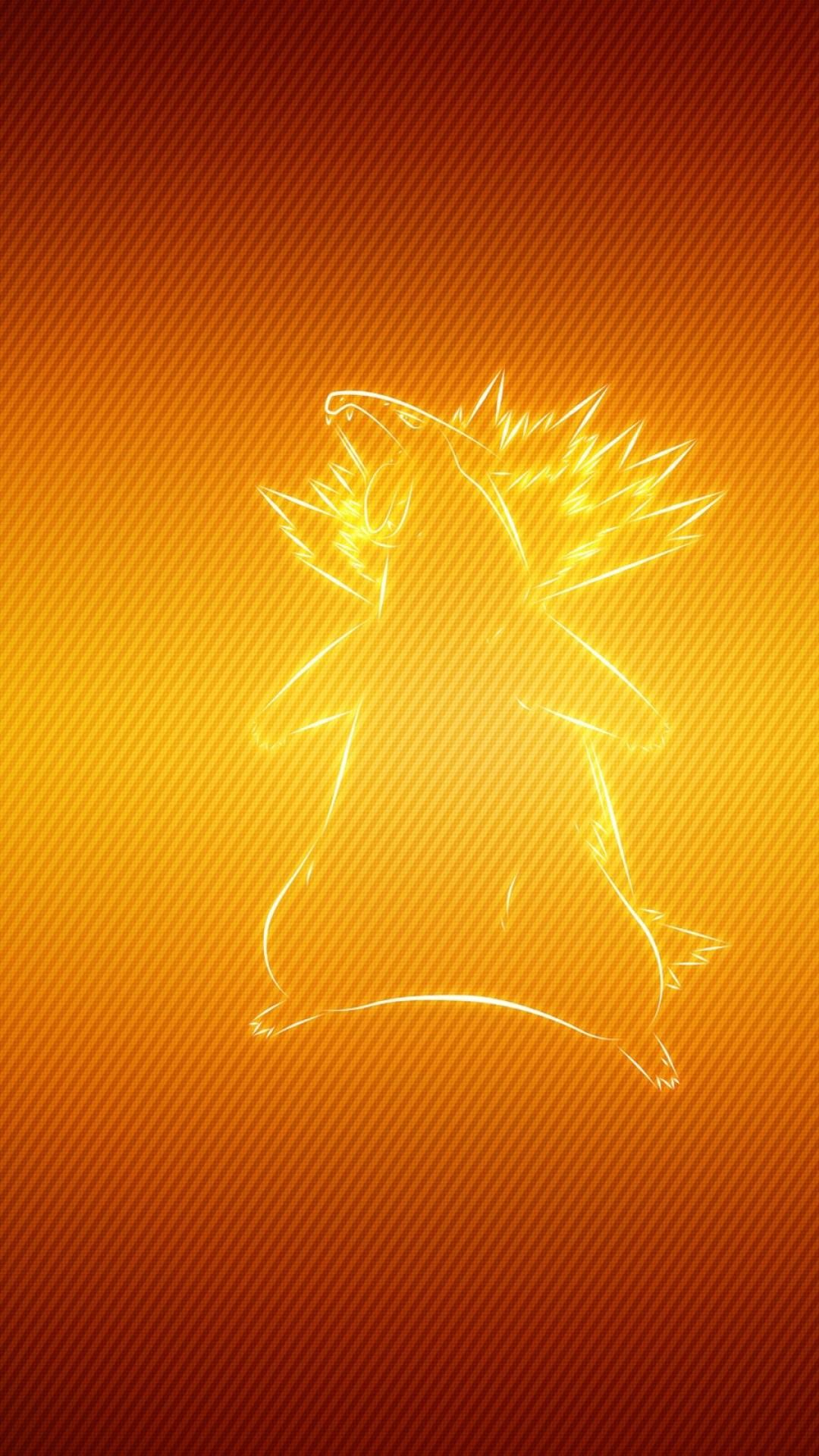 Preview wallpaper pokemon, typhlosion, badger 1080×1920