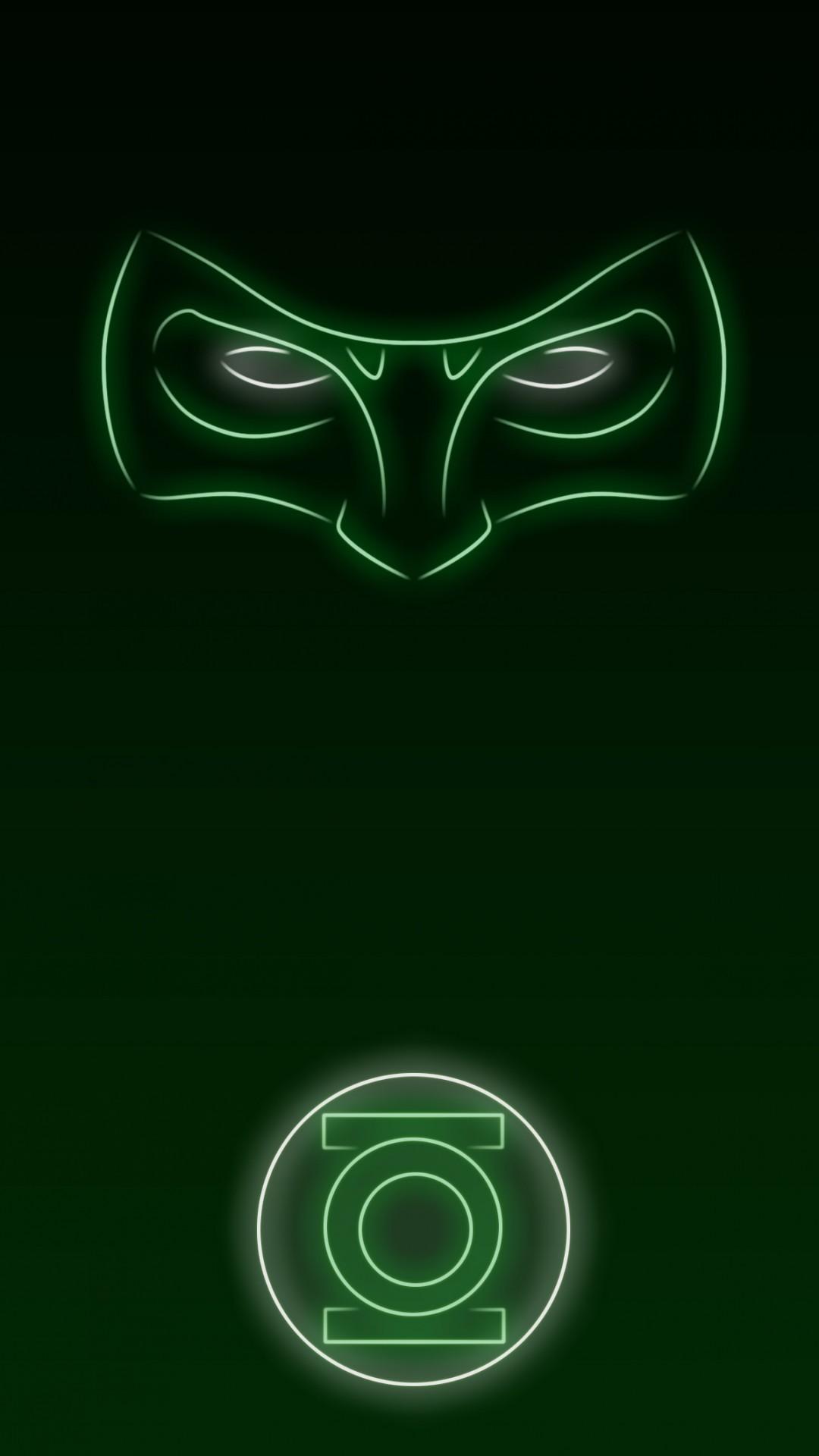 Download Neon Light Hero Green Lantern 1080 x 1920 Wallpapers – 4644331 –  neon light superhero