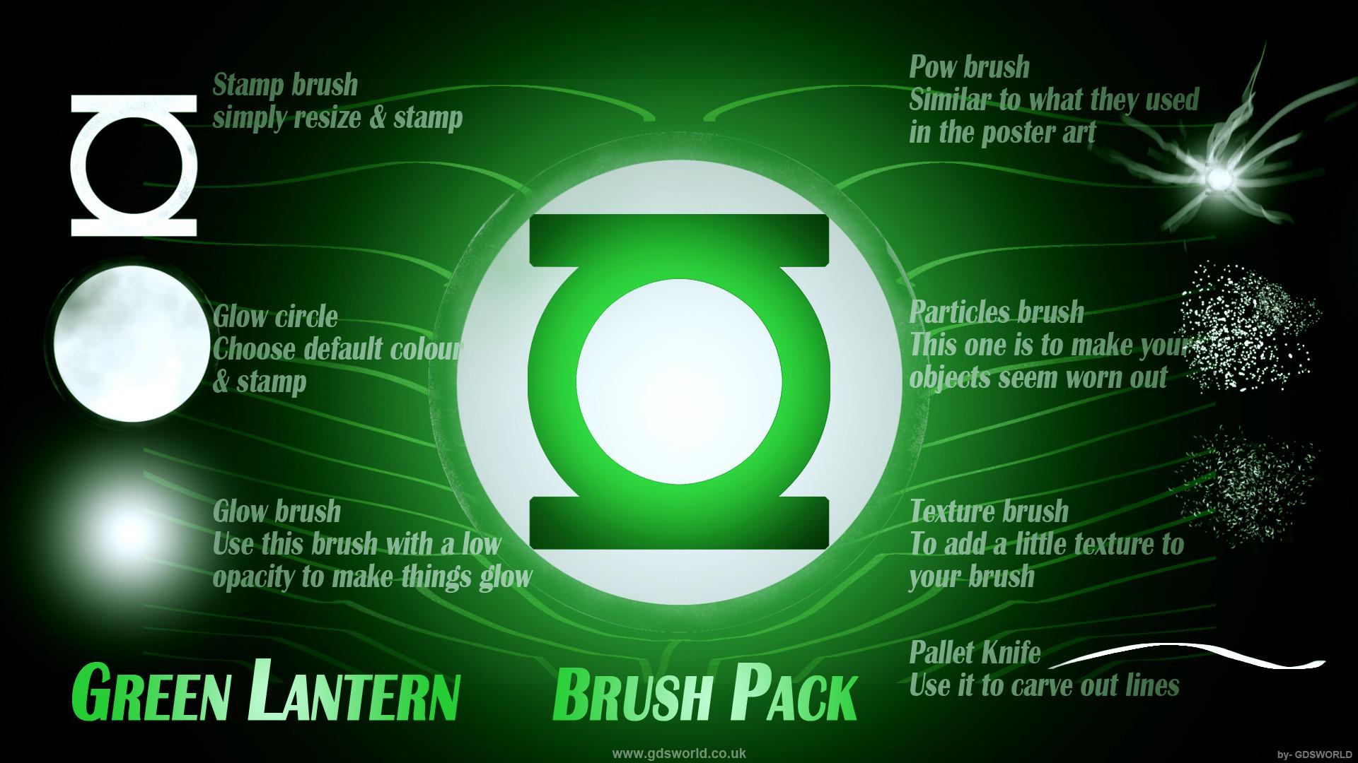 Green Lantern Brush set by gdsworld-stock on DeviantArt