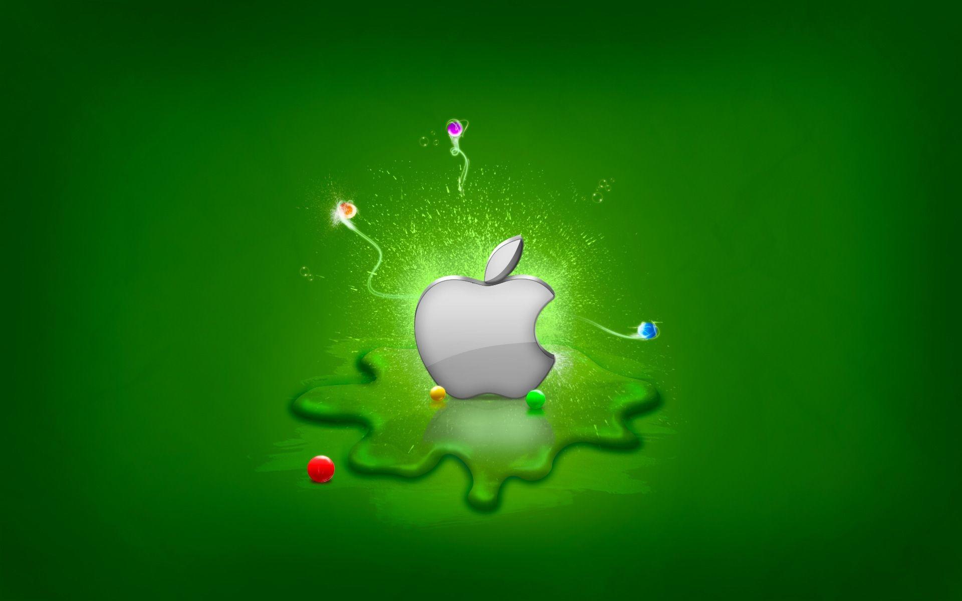 3D Green Background Apple Mac OS Cool Wallpape #1852 Wallpaper .