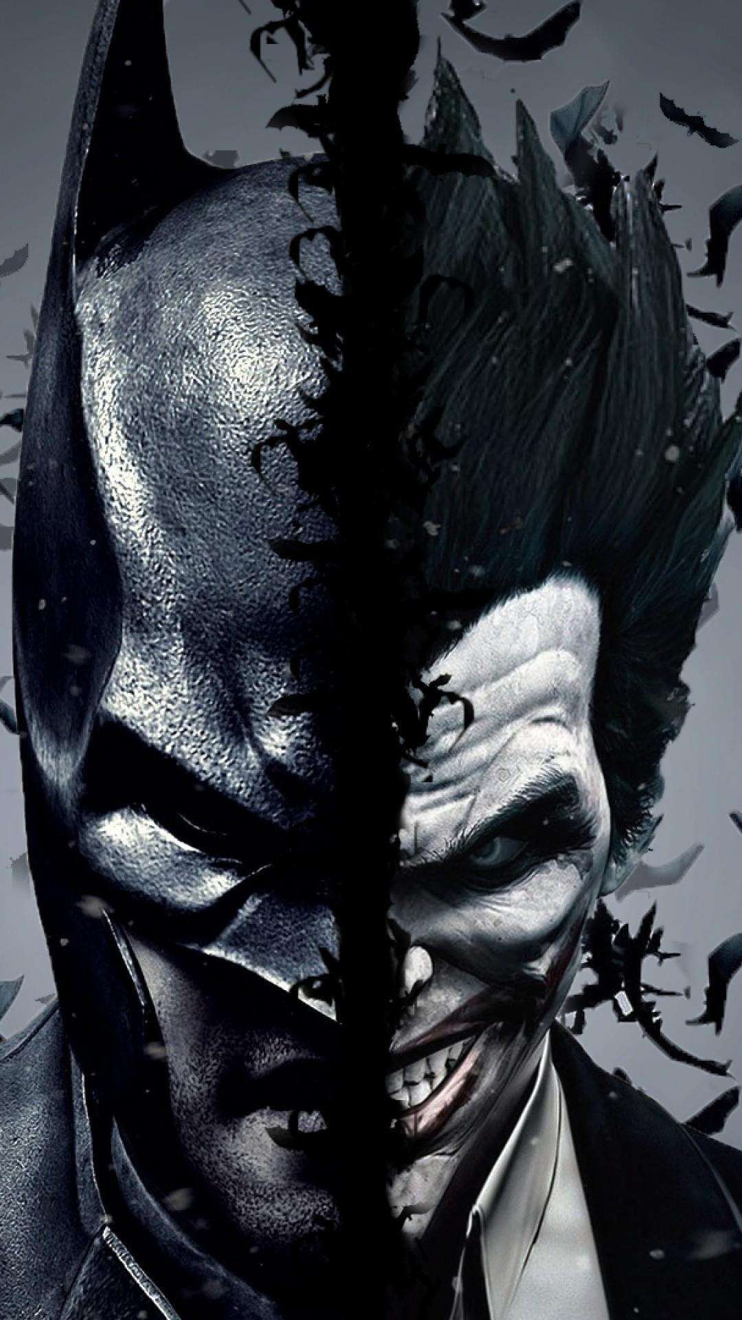 Batman Vs Joker Dual Screen Iphone Wallpaper | Id: 50906