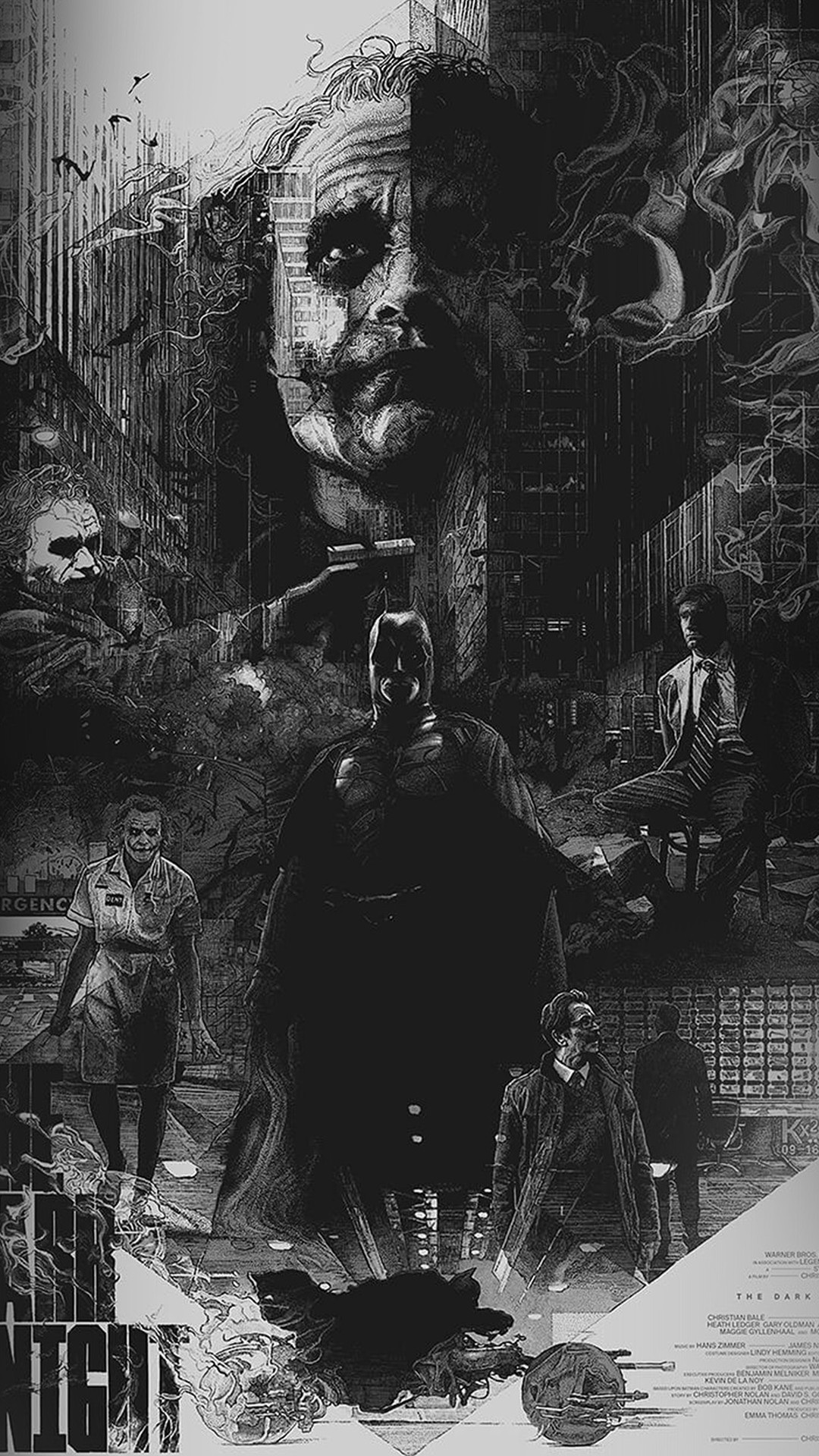 Joker Batman Poster Film Hero Illustration Art #iPhone #6 #wallpaper