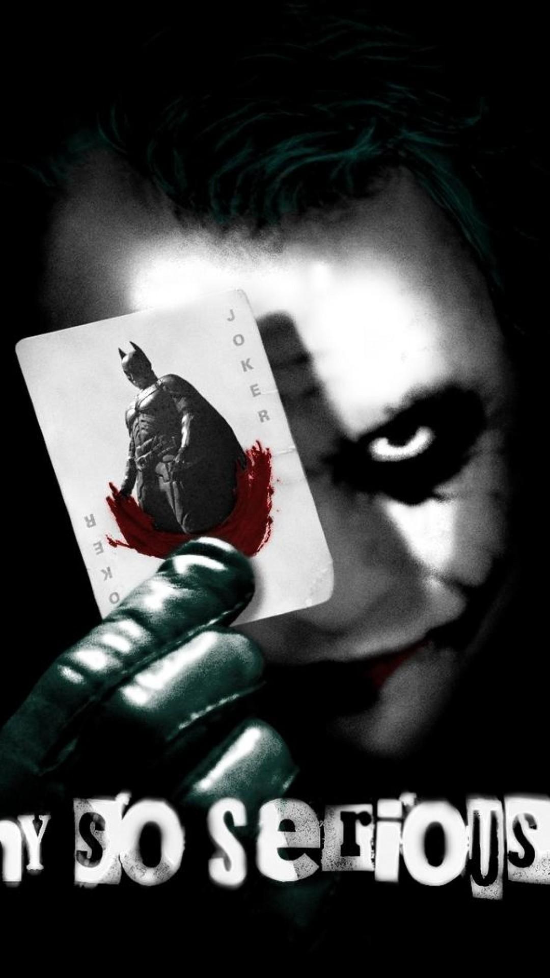 Why So Serious, Joker, Batman, Card, Heath Ledger