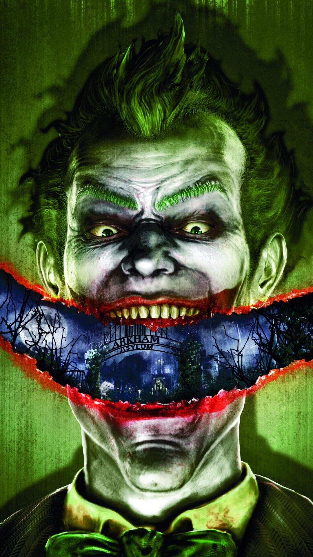 … Joker – Batman – Arkham Asylum Game mobile wallpaper
