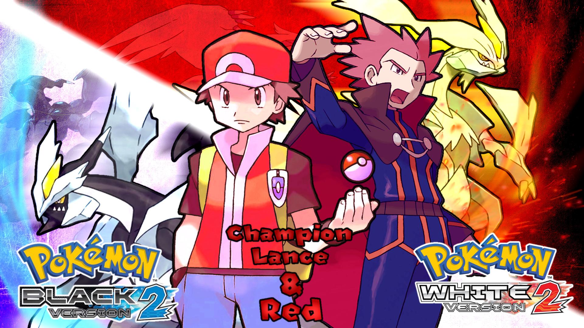 … Pokemon BW2- Lance and Red Wallpaper by MattPlaysVG