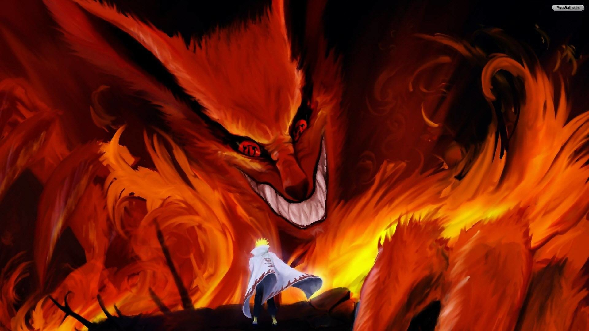 Wallpapers For > Naruto Shippuden Nine Tails Wallpaper Hd