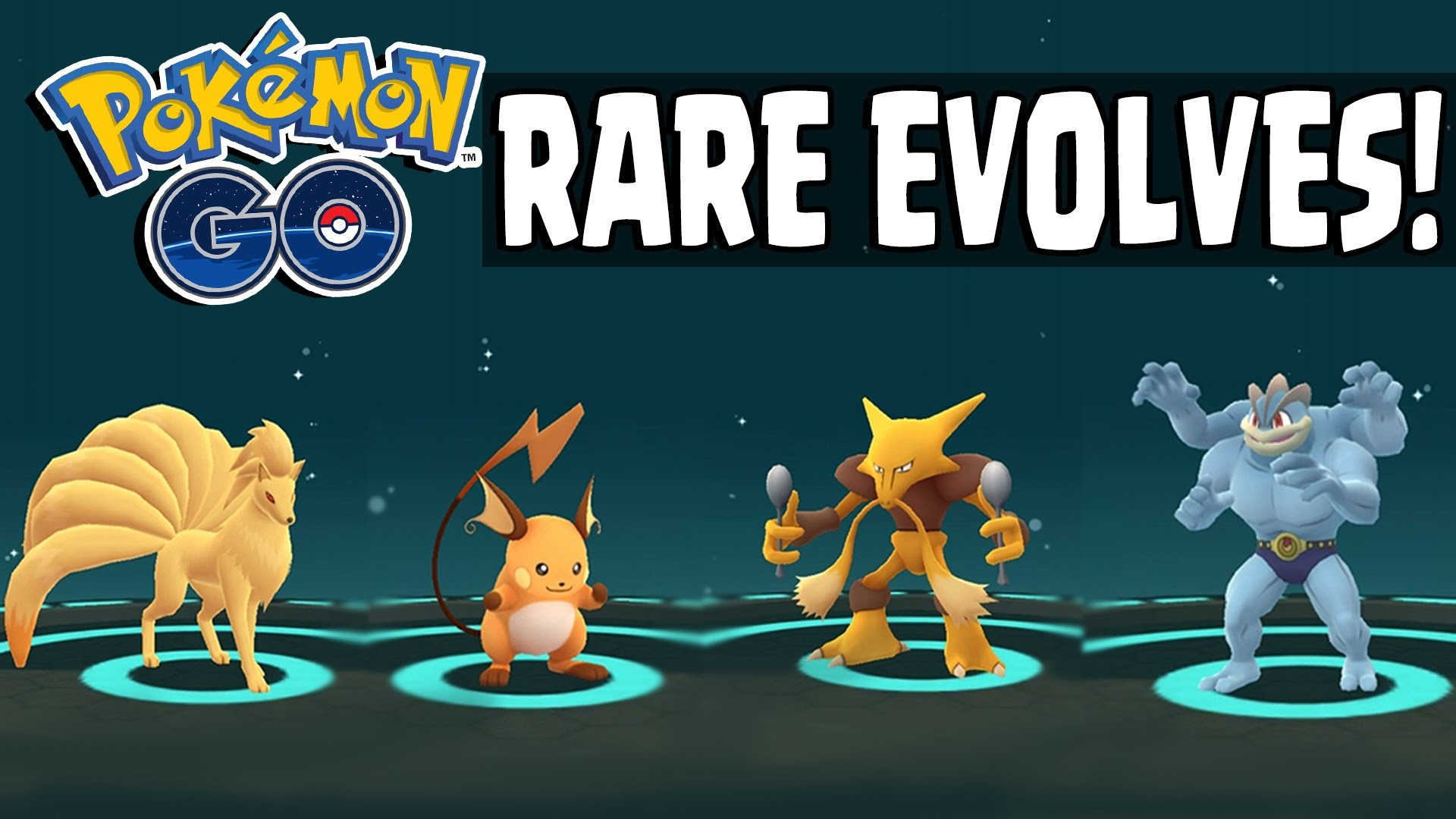 Pokemon GO | RARE POKEMON EVOLVING SPREE – Alakazam, Raichu, Machop,  Ninetails & More! – YouTube