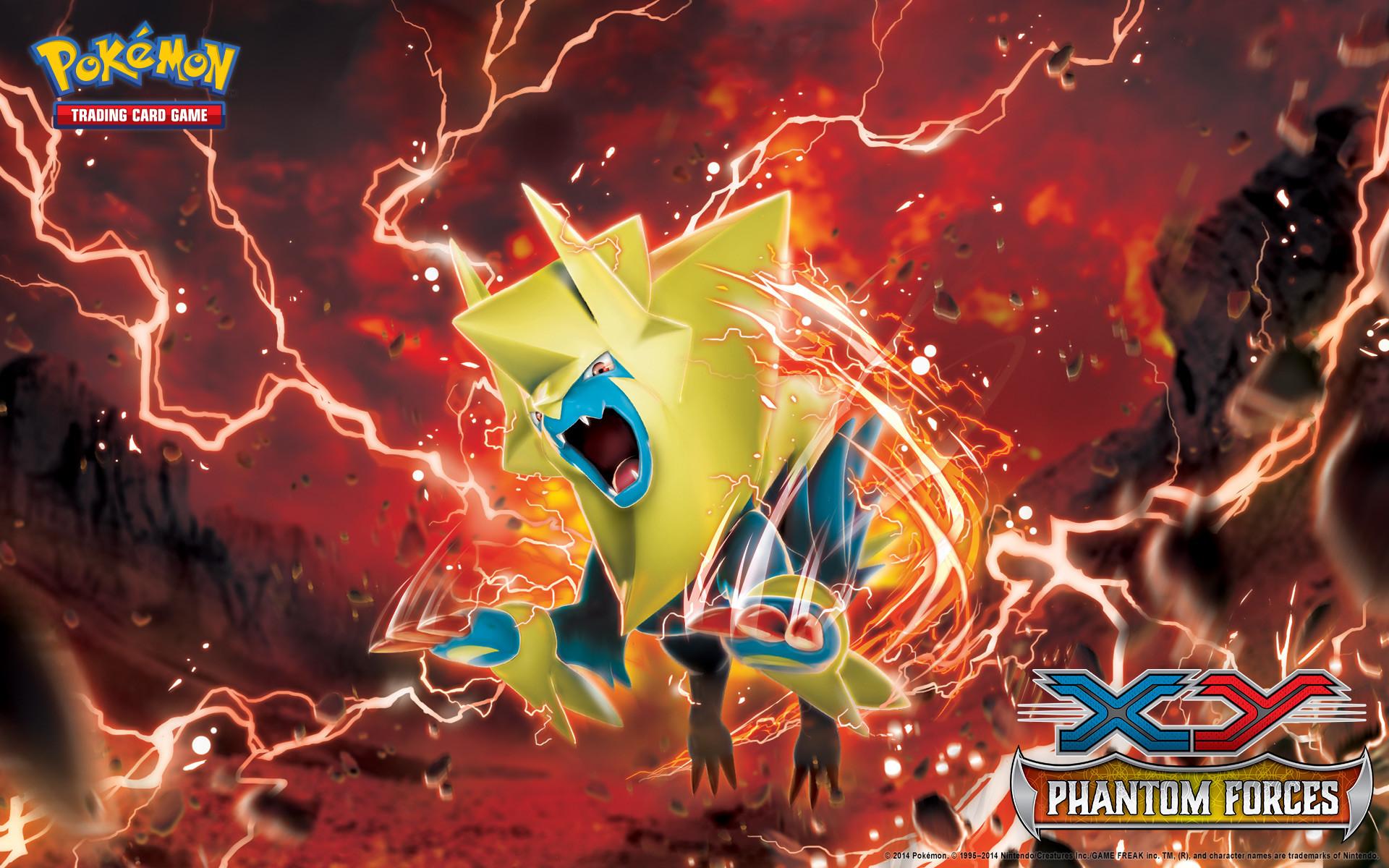 Pokémon TCG: <em>XY—Phantom Forces</em> Manectric Wallpaper