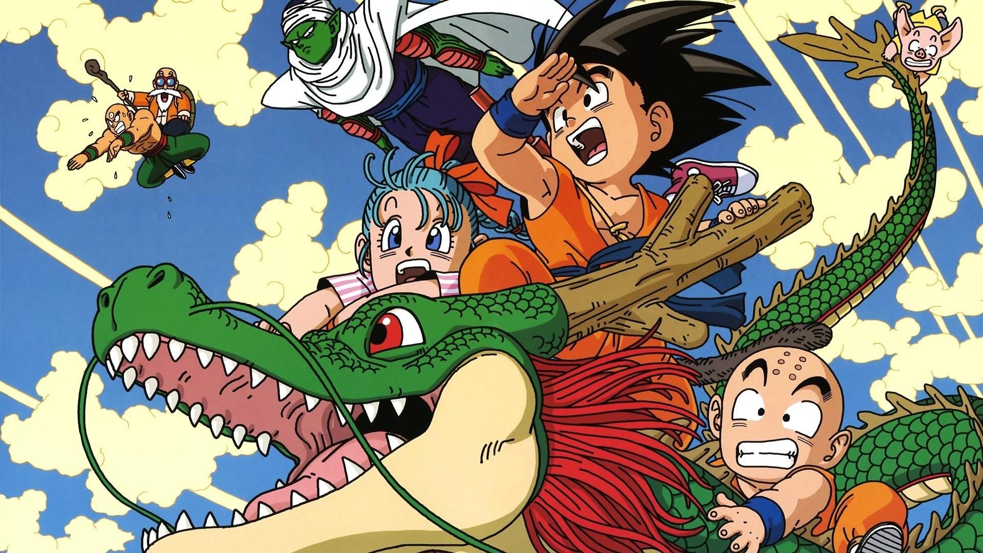 Bulma Dragon Ball Z Dragons Goku Krillin Master Roshi Piccolo Tien