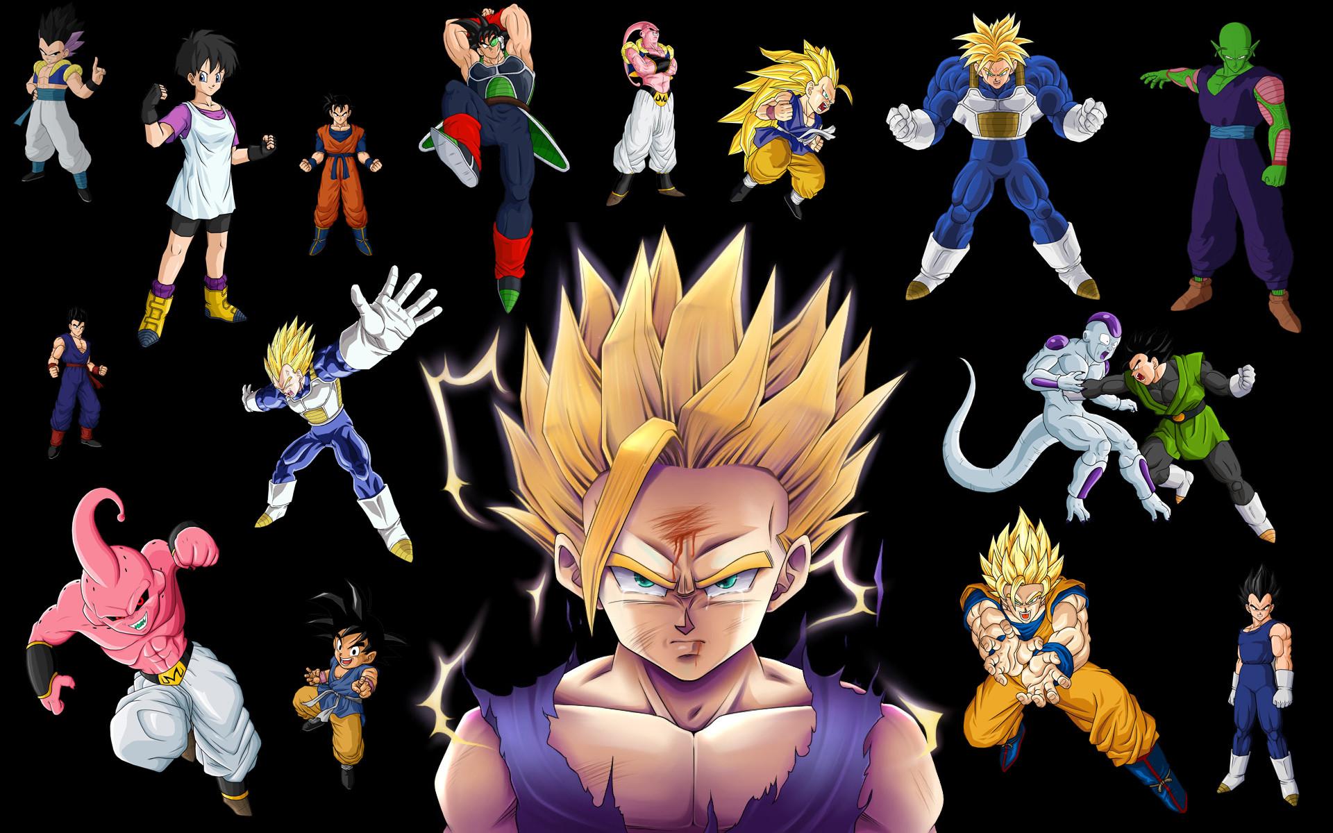 Vegeta, Buu, Son Goku, Frieza, Videl (Dragon Ball), Son Gohan – Free  Wallpaper / WallpaperJam.com