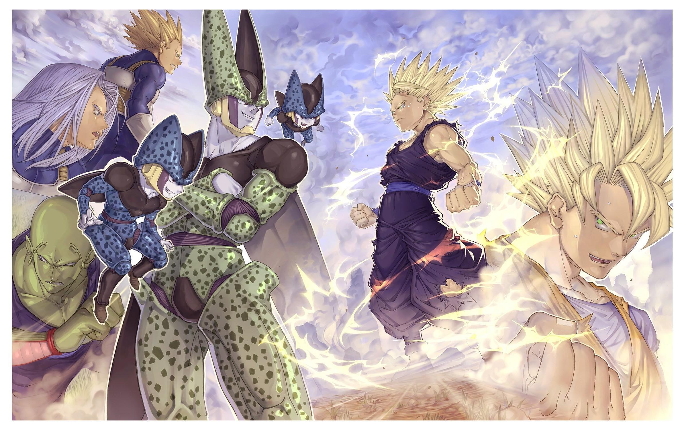 anime, Dragon Ball, Son Goku, Son Gohan, Vegeta, Trunks (character), Piccolo,  Cell (character), Dragon Ball Z Wallpapers HD / Desktop and Mobile  Backgrounds