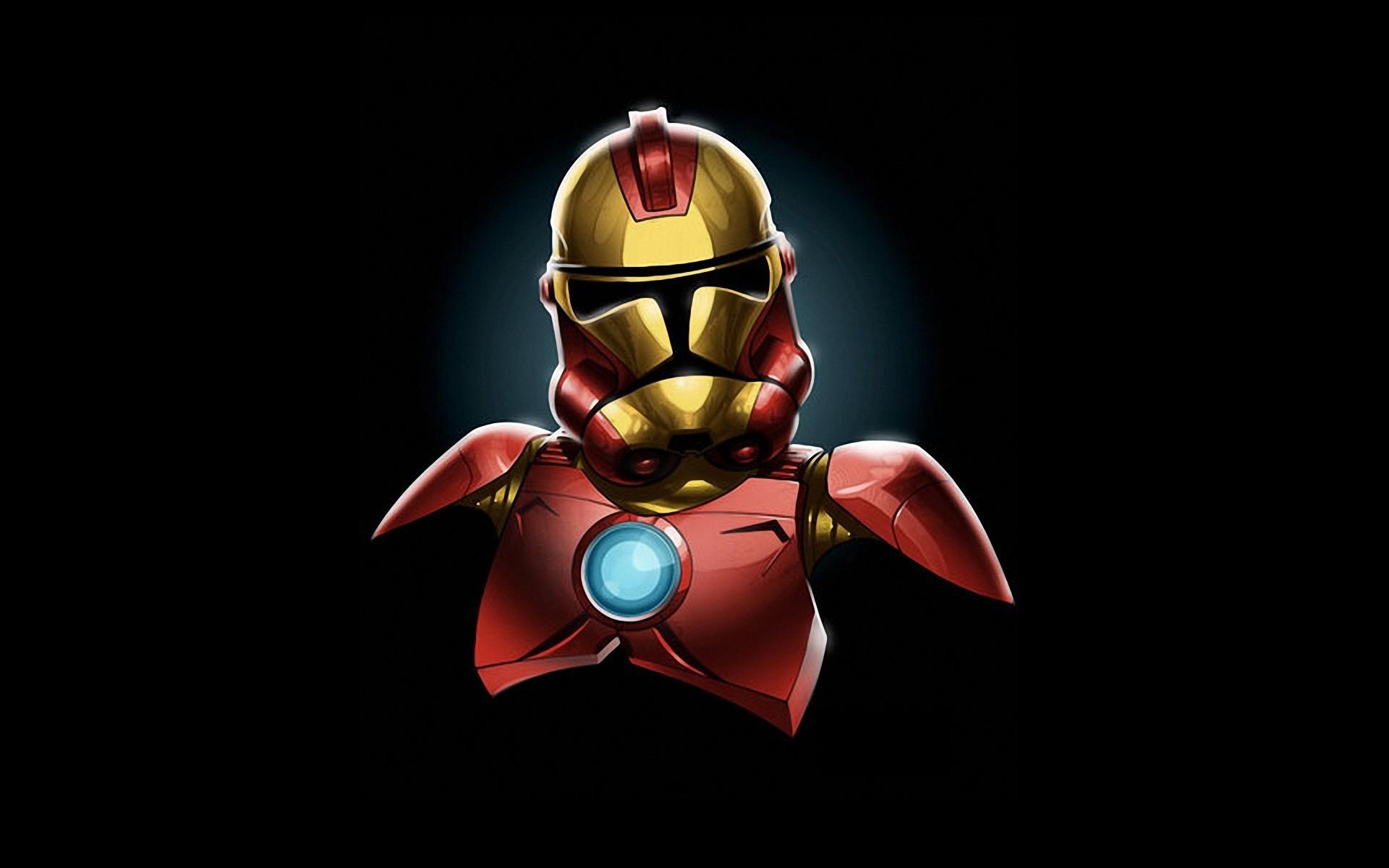 Star Wars Minimalistic Iron Man Stormtroopers Marvel Comics Wallpaper At 3d  Wallpapers