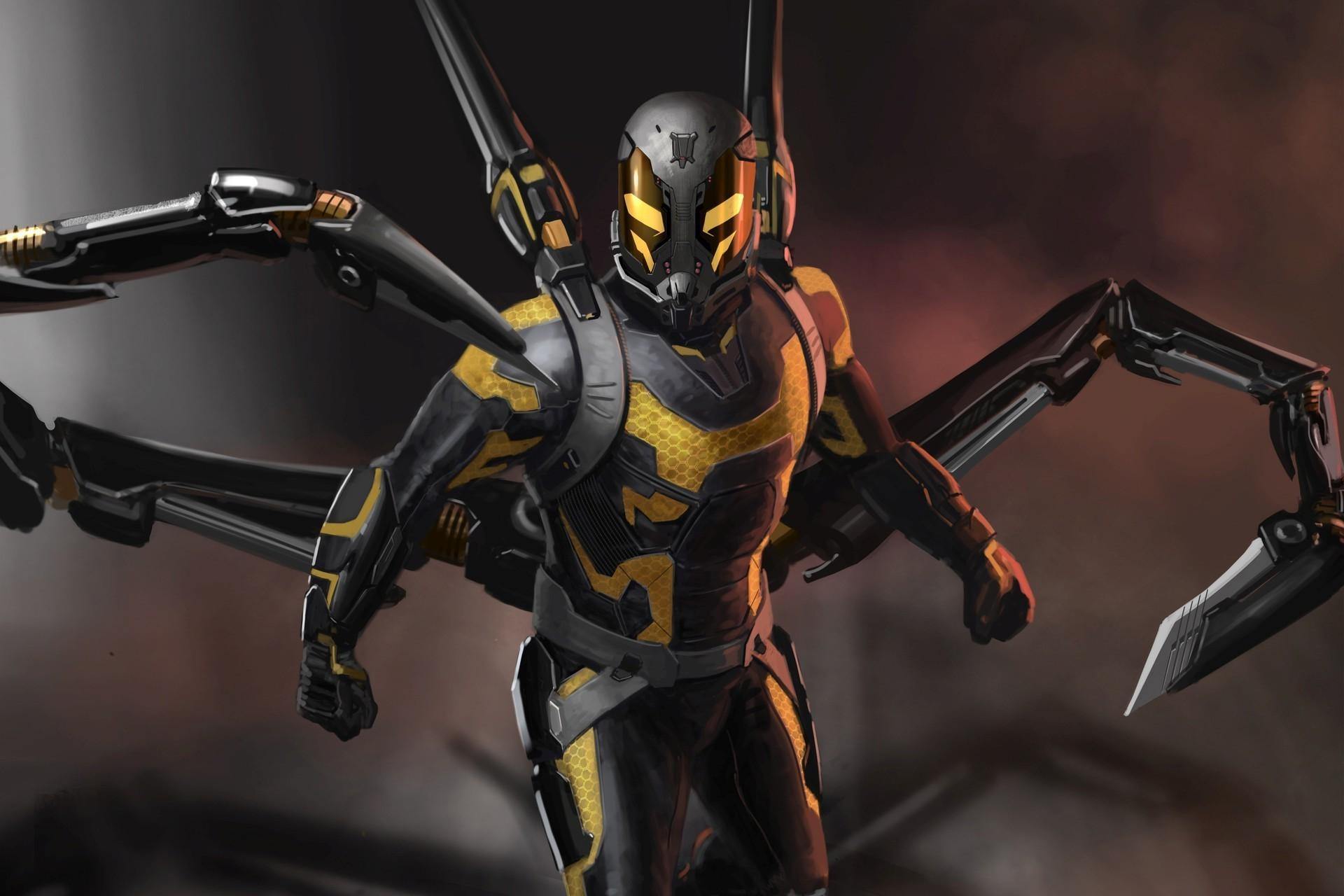 Yellowjacket, Ant Man, Movies, Comics, Marvel Comics, Artwork Wallpapers HD  / Desktop and Mobile Backgrounds