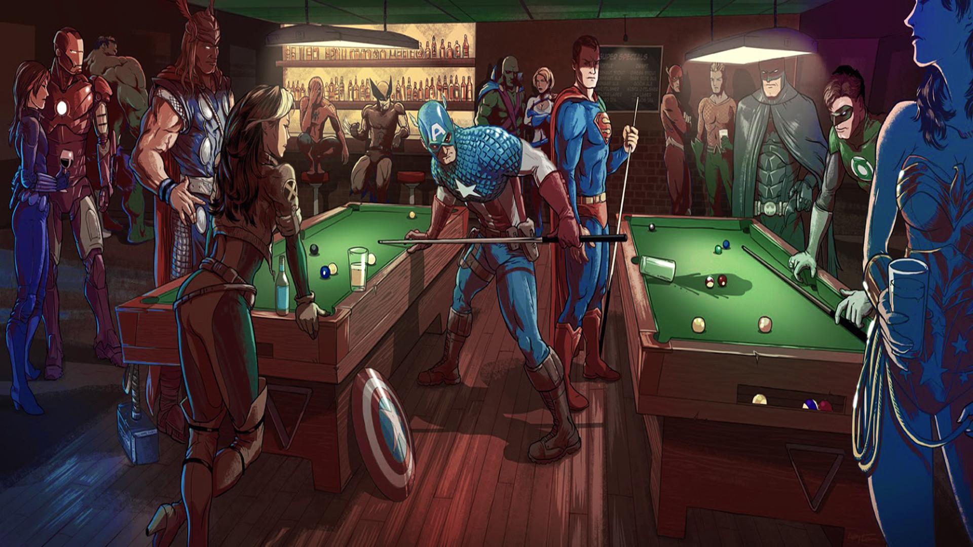Marvel VS DC Bar fight (1920×1080) …