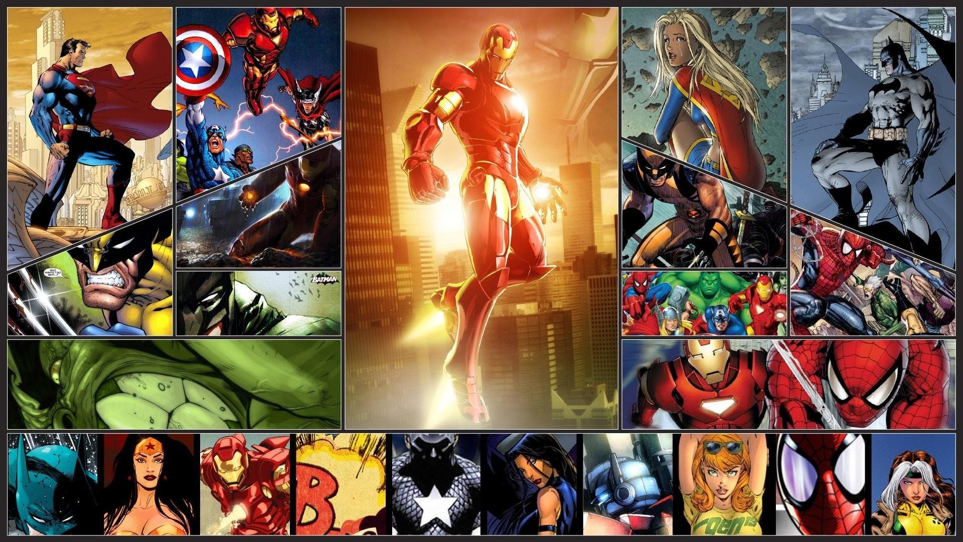 Wolverine Spider-Man Captain America Thor Iron Man DC Comics Marvel  Superman Supergirl Batman Wonder Woman Rogue Character Hulk …