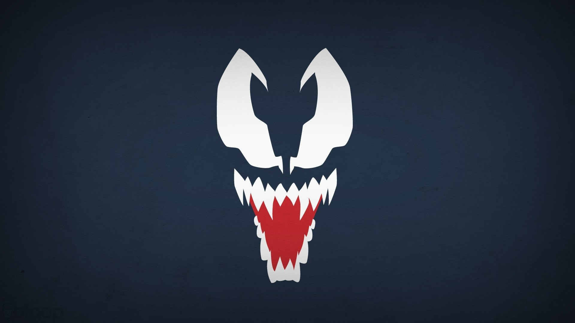 Blo0p Blue Background Marvel Comics Navy Venom Villians