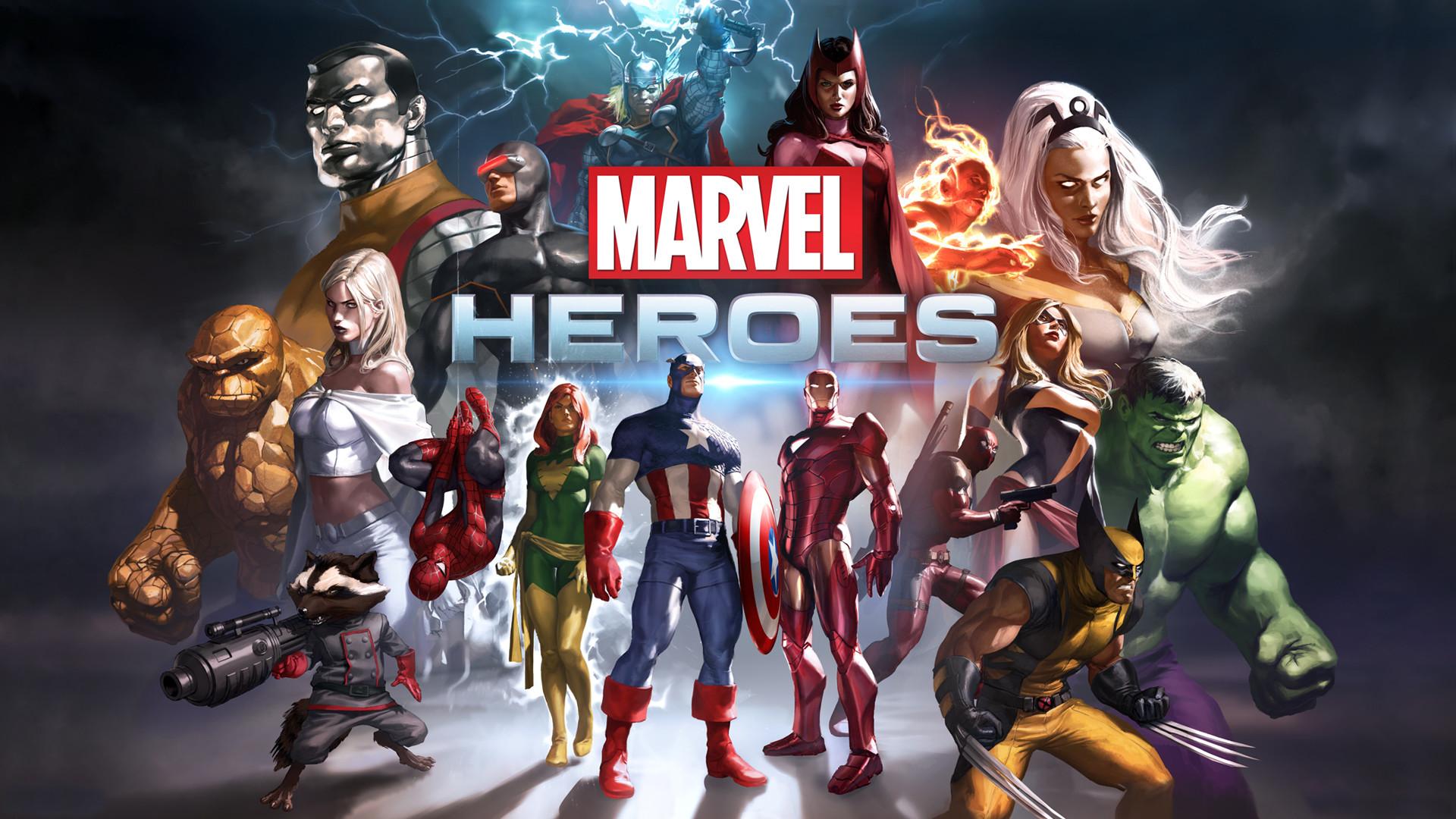 Marvel Heroes Game – This HD Marvel Heroes Game wallpaper is based on Marvel  Heroes Game