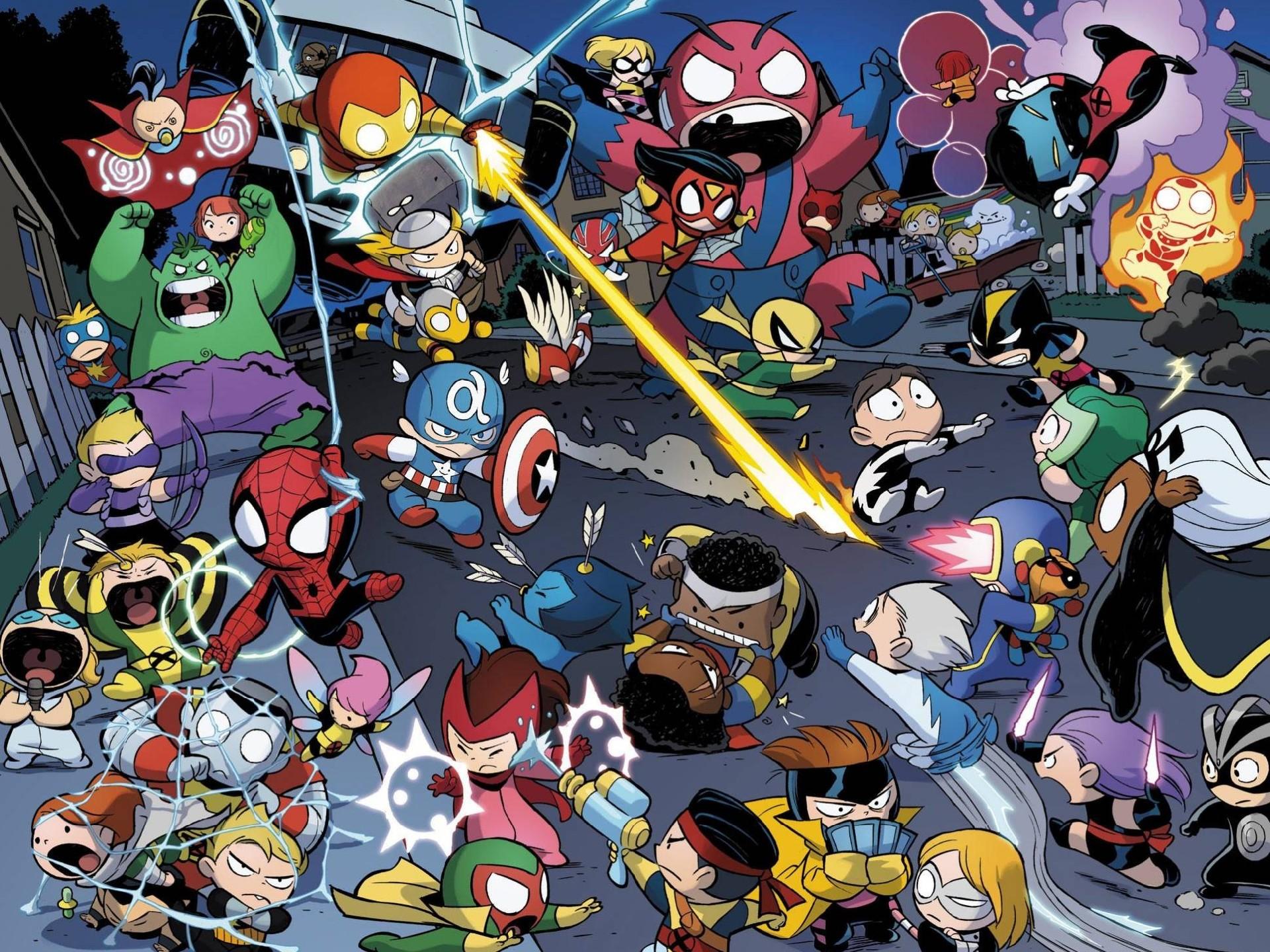 Comics Avengers Vs. X-Men Babies Wallpaper #465863 – Resolution px