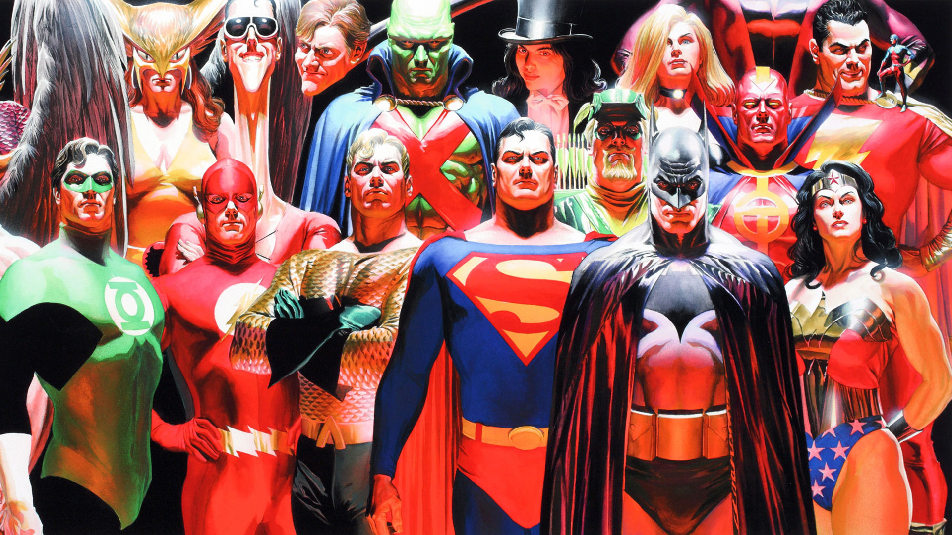 Justice League of America. DC's mightiest.