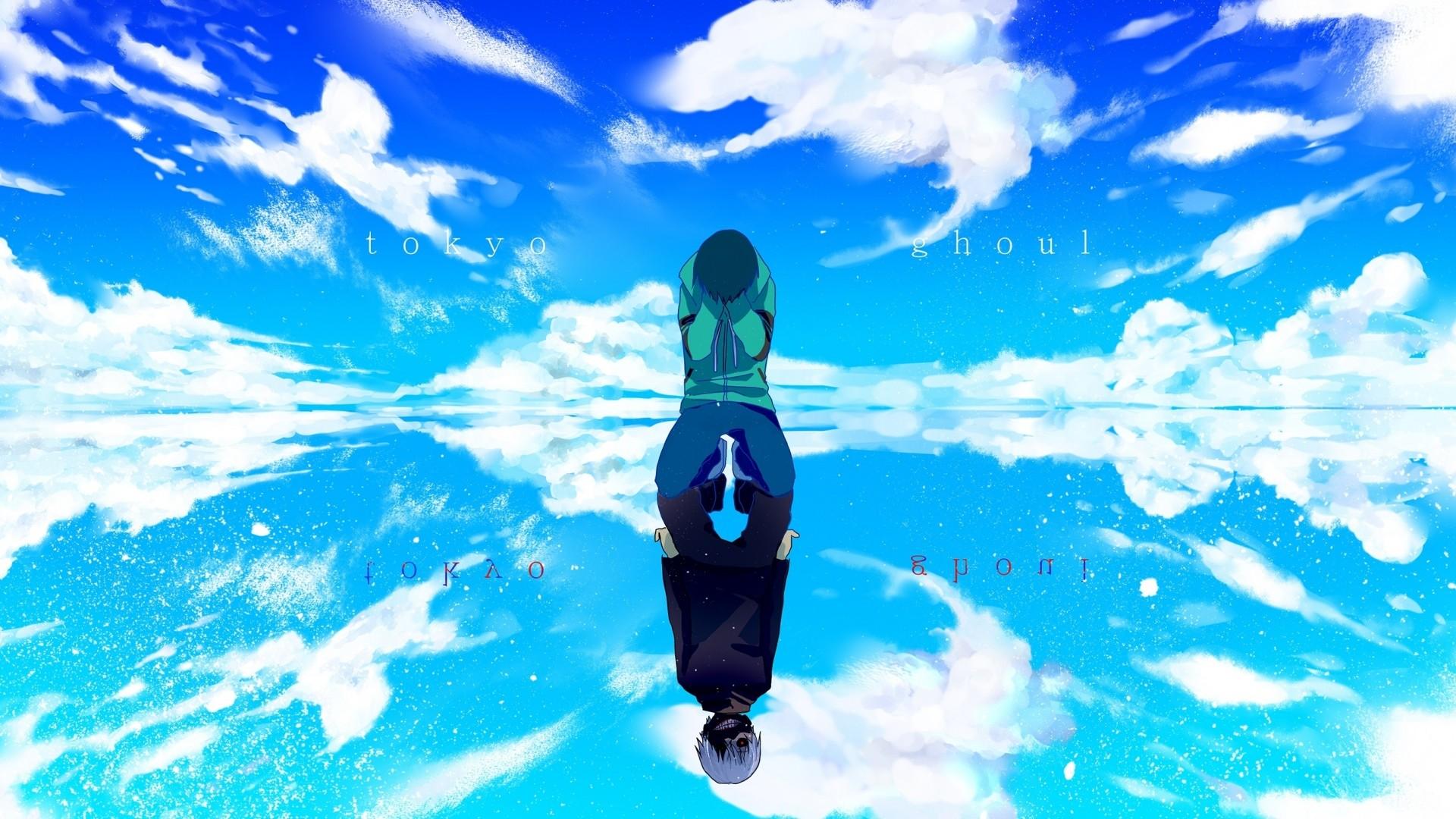 Wallpaper tokyo ghoul, kaneki ken, man, reflection