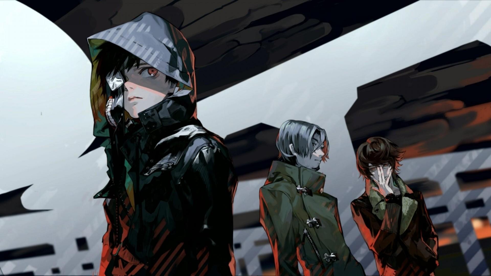 Wallpaper tokyo ghoul, kaneki ken, guys, art