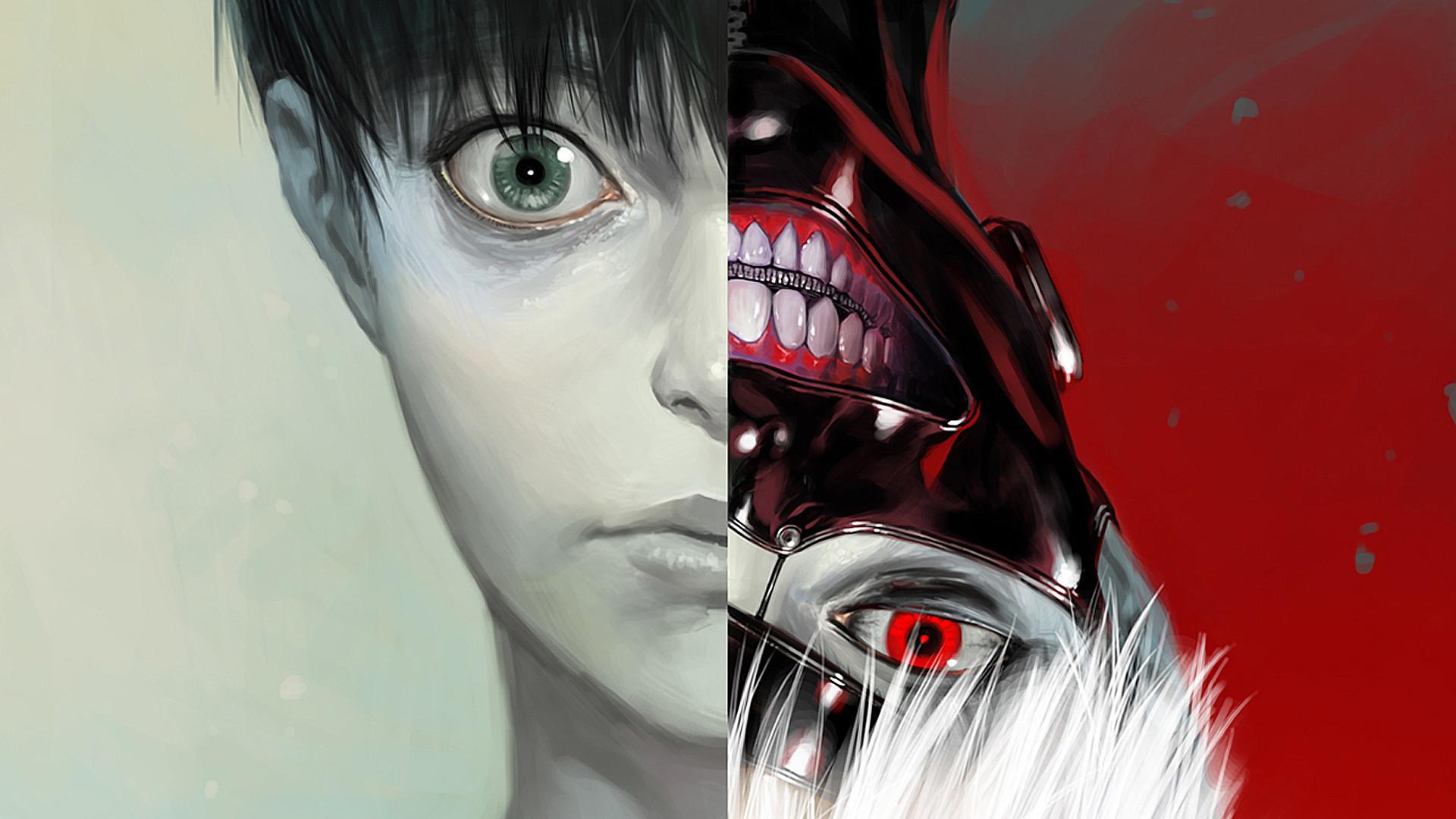 Ken Kaneki Tokyo Ghoul Anime Mask HD 1080p Wallpaper And