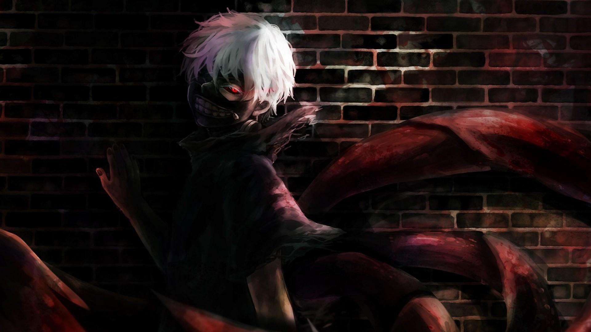 Wallpaper tokyo ghoul, kaneki ken, art, mask
