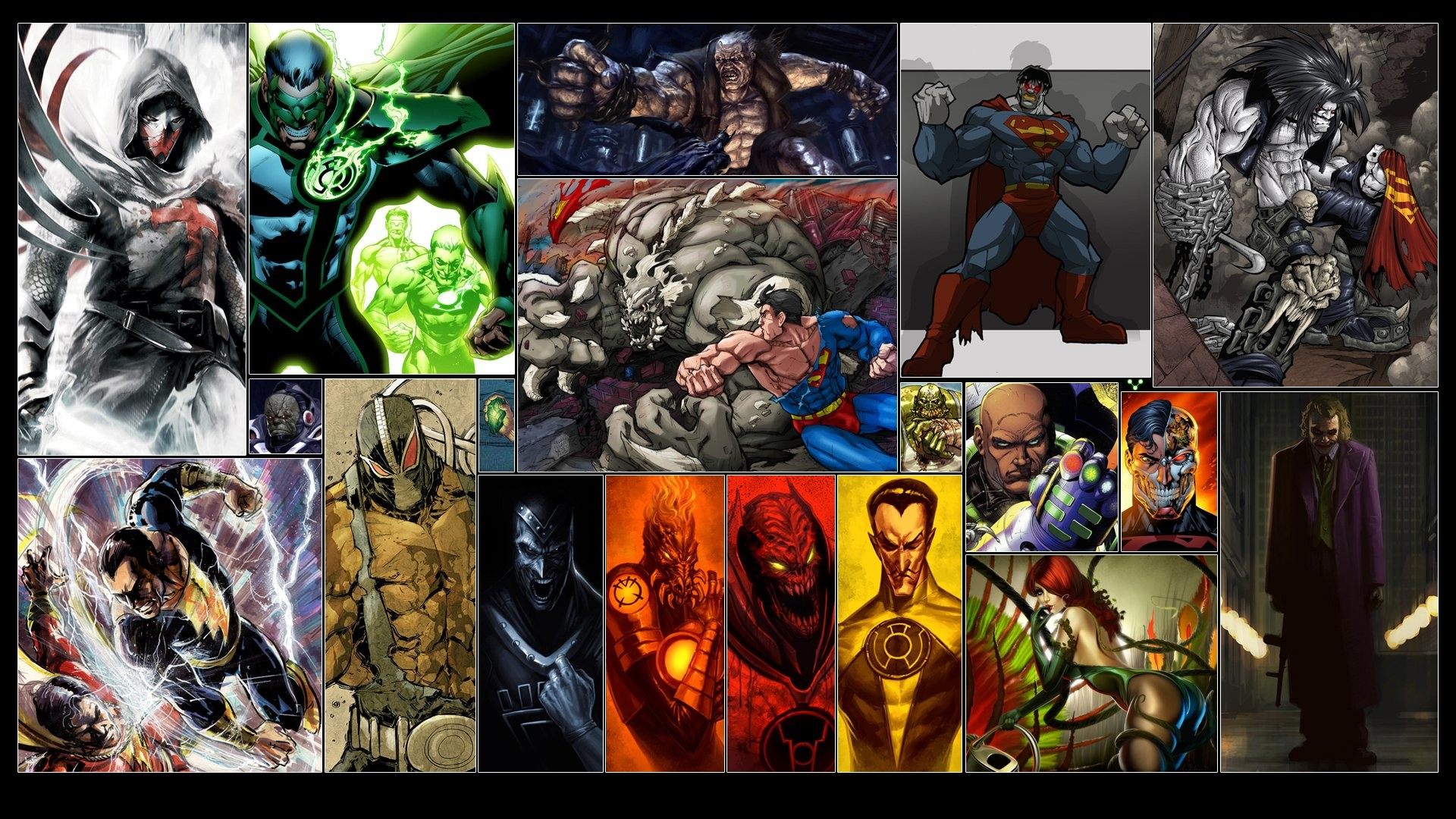 Comics – DC Comics Superman Joker Sinestro Red Lantern Wallpaper