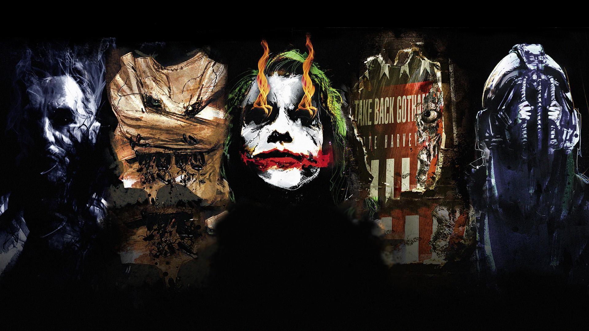 The Dark Knight Trilogy Villains …