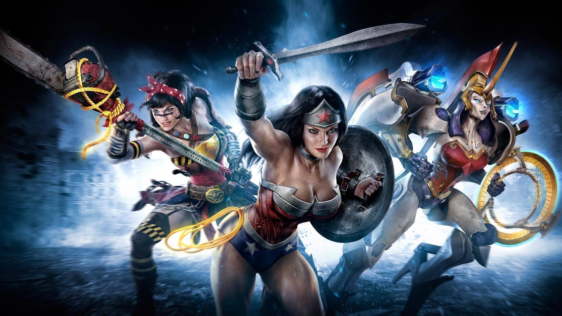 comic superheroes women   superhero Wonder Woman DC-comics Sword wallpaper  background