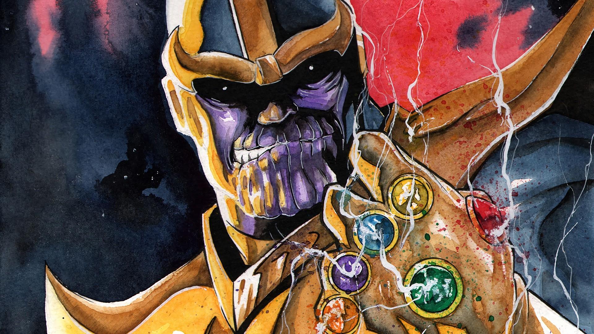 Comics – Thanos Marvel Comics Avengers Wallpaper