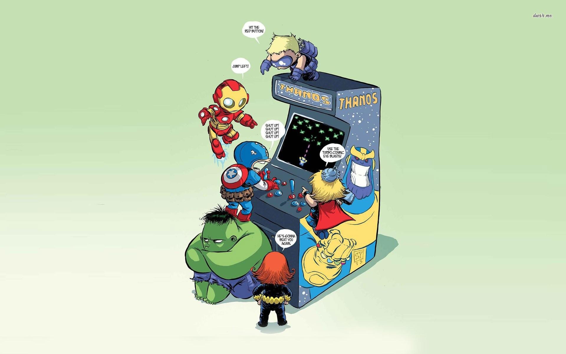 Avenger Kids Playing Thanos …