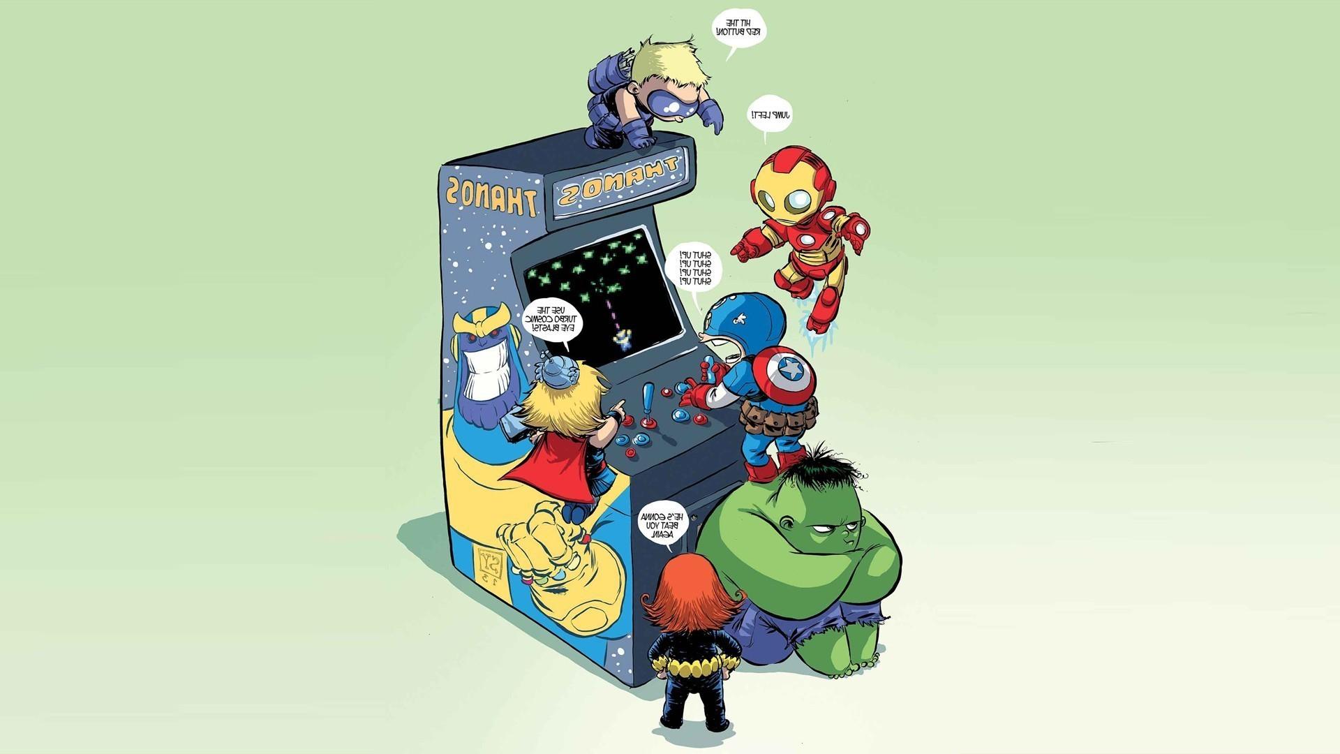 Marvel Comics, Movies, Marvel Heroes, Iron Man, Stark Industries, Hulk,  Captain America, Thor, Thanos, Arcade Cabinet, The Avengers Wallpapers HD /  Desktop …