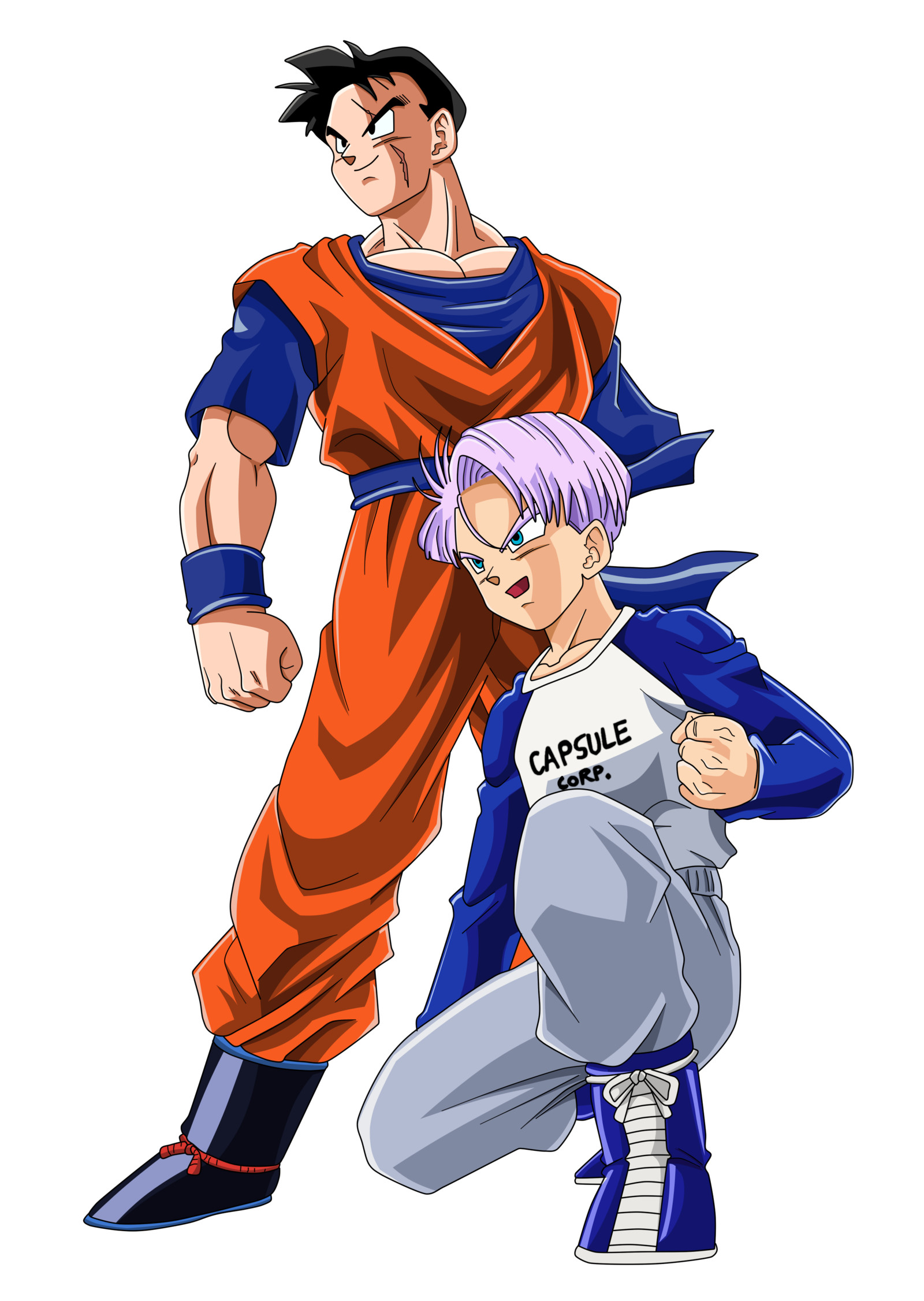 Future Gohan and Trunks Color by BoScha196 on DeviantArt – Visit now for 3D  Dragon Ball