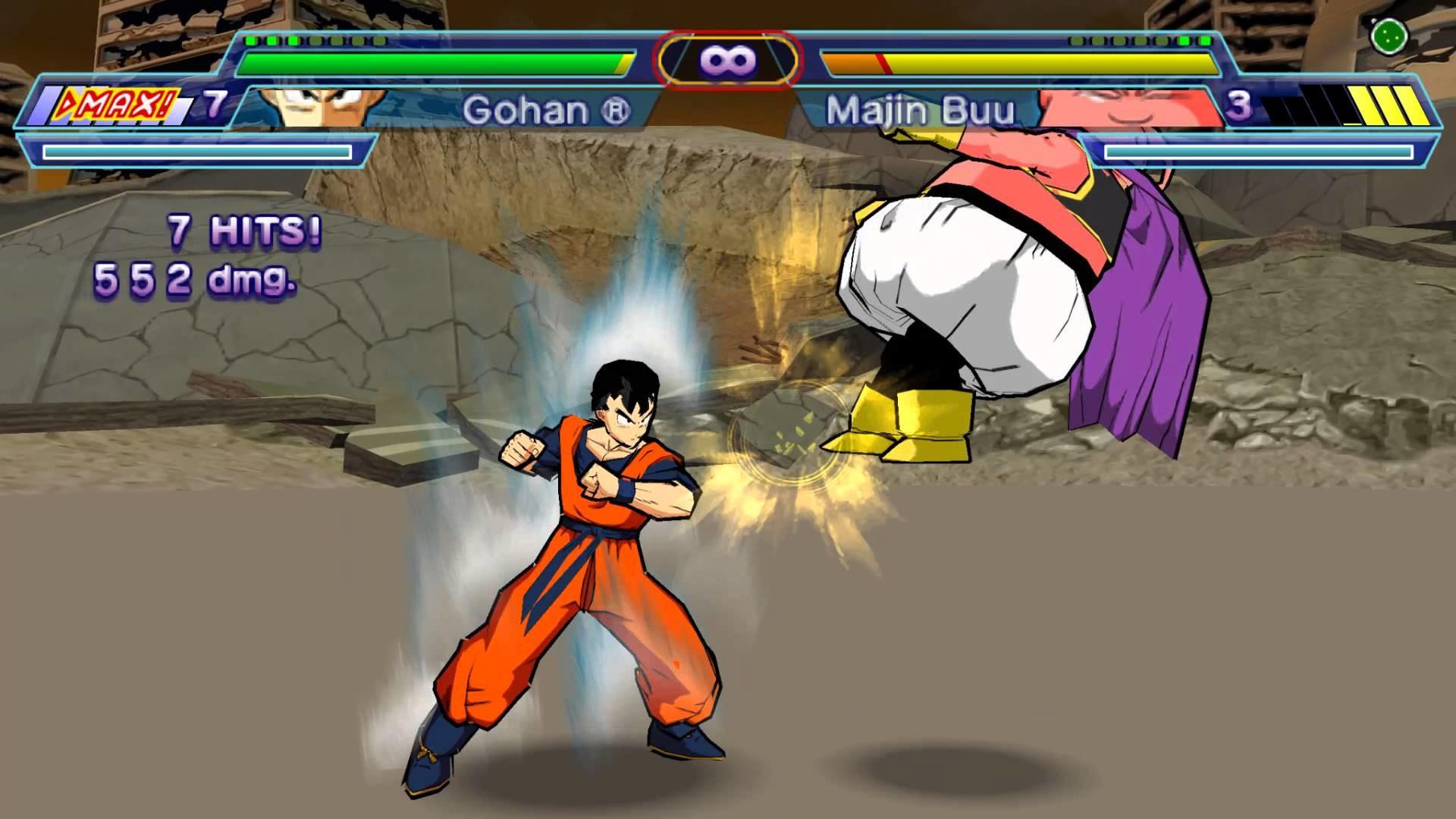 Dragonball Z Shin Budokai Another Road (PSP) – Future Gohan vs Majin Buu