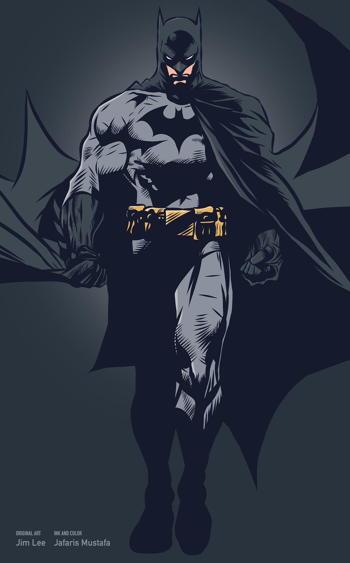 Batman by Jim Lee, inks and colours by Jarafris Mustafa