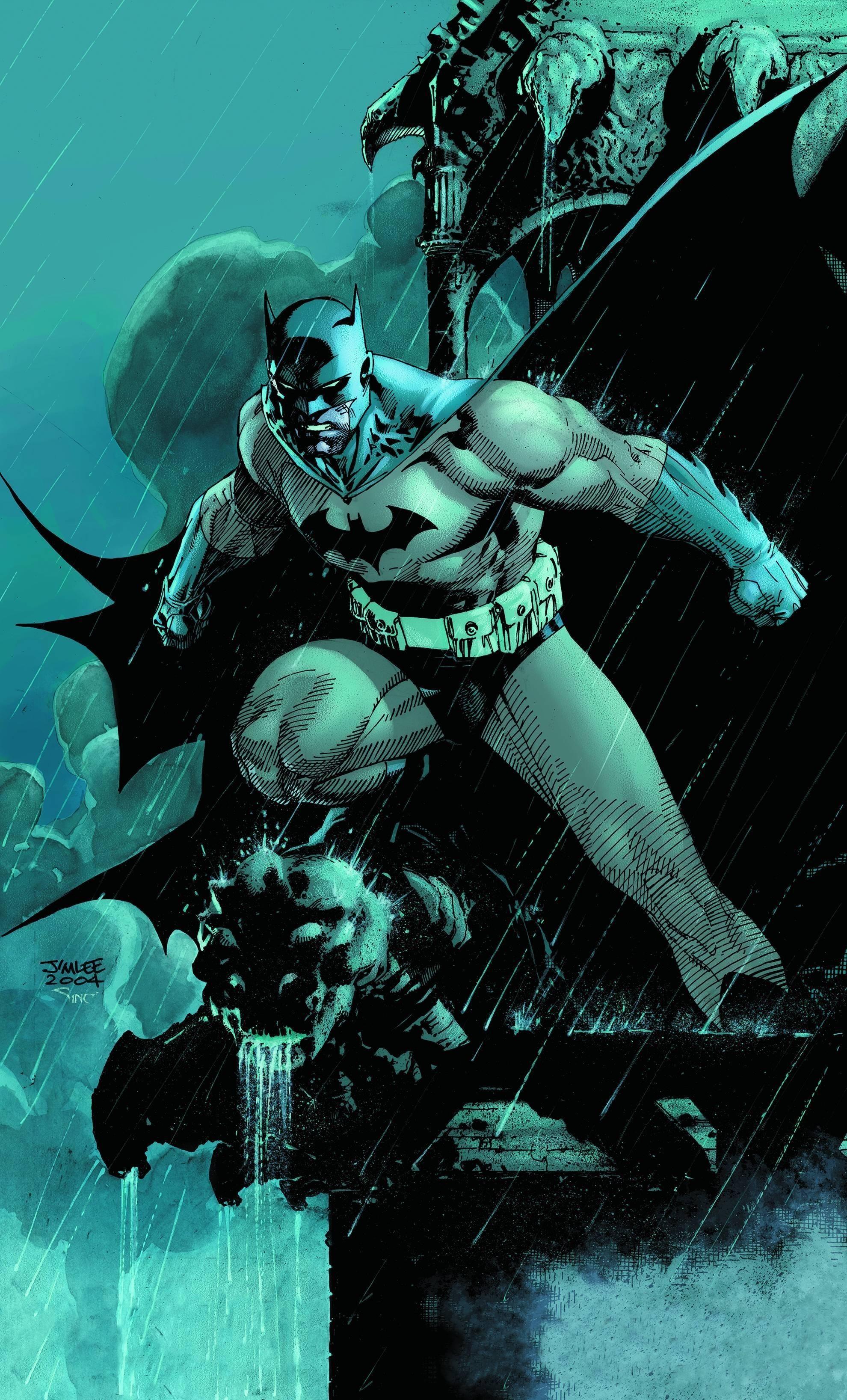 General Batman Bruce Wayne Jim Lee Hush cape cowl rain comics DC  Comics