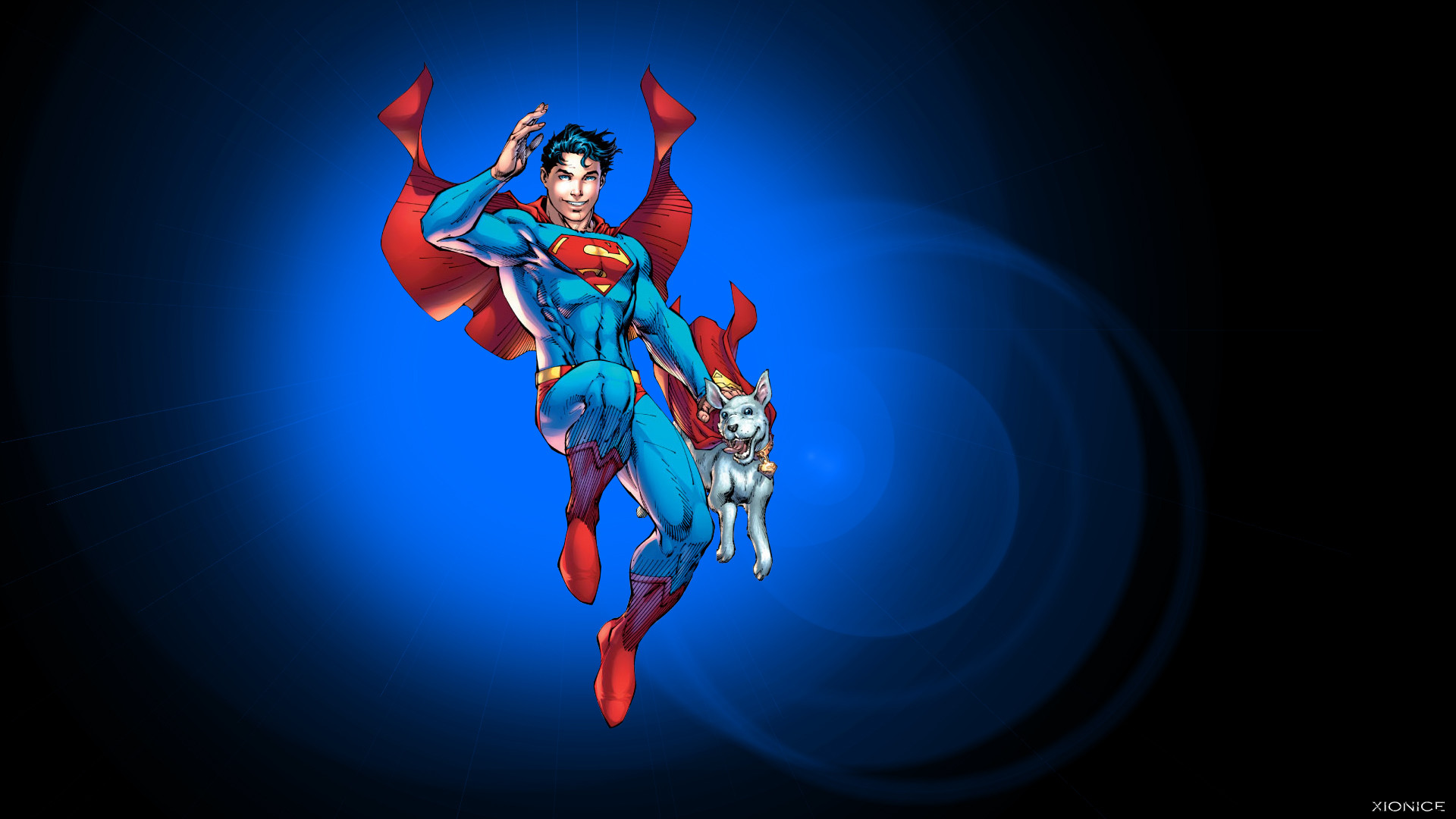 … Superboy and Krypto by Jim Lee by Xionice