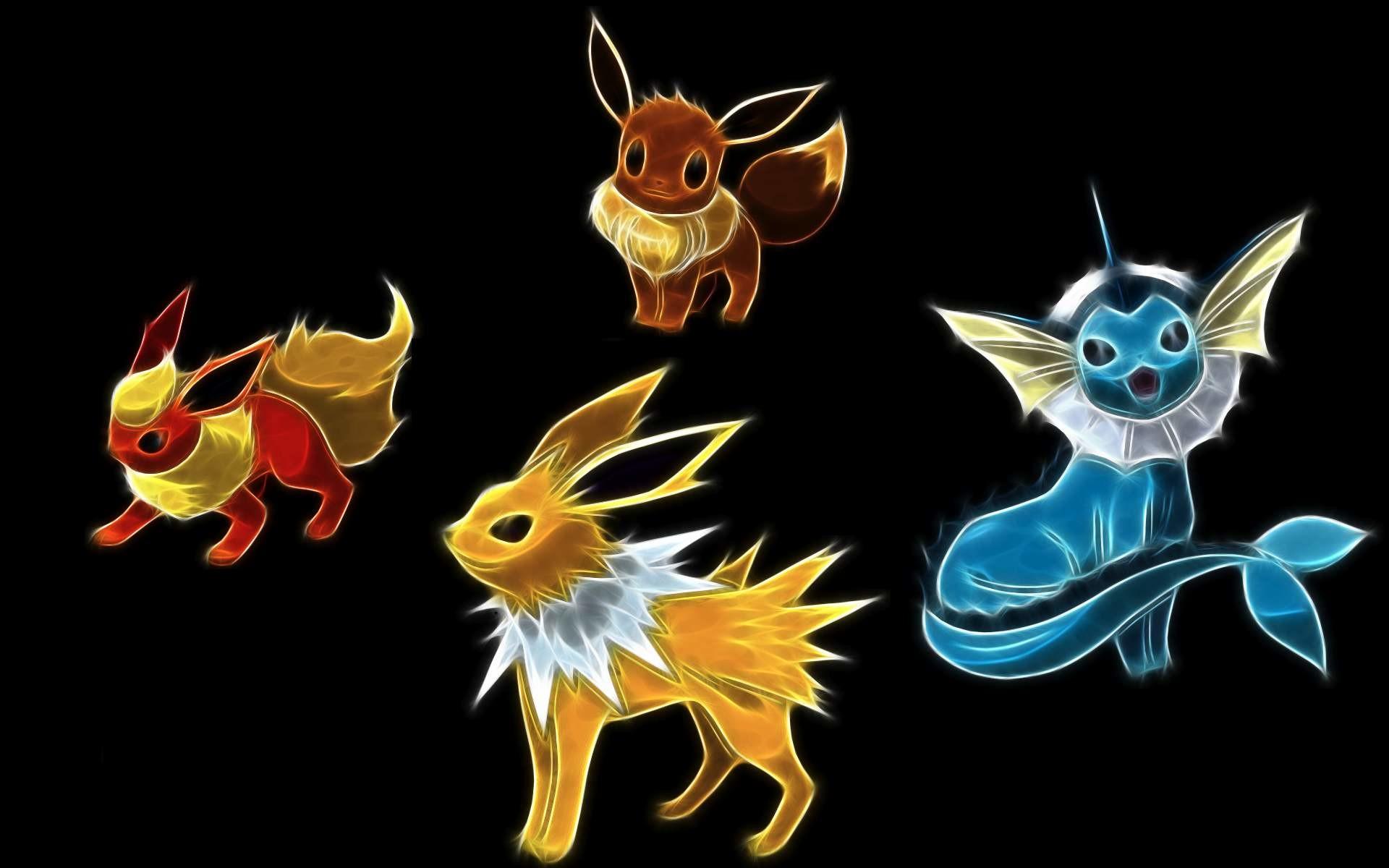 Jolteon, eevee, evolution, themes, pokemon, HD Wallpaper .